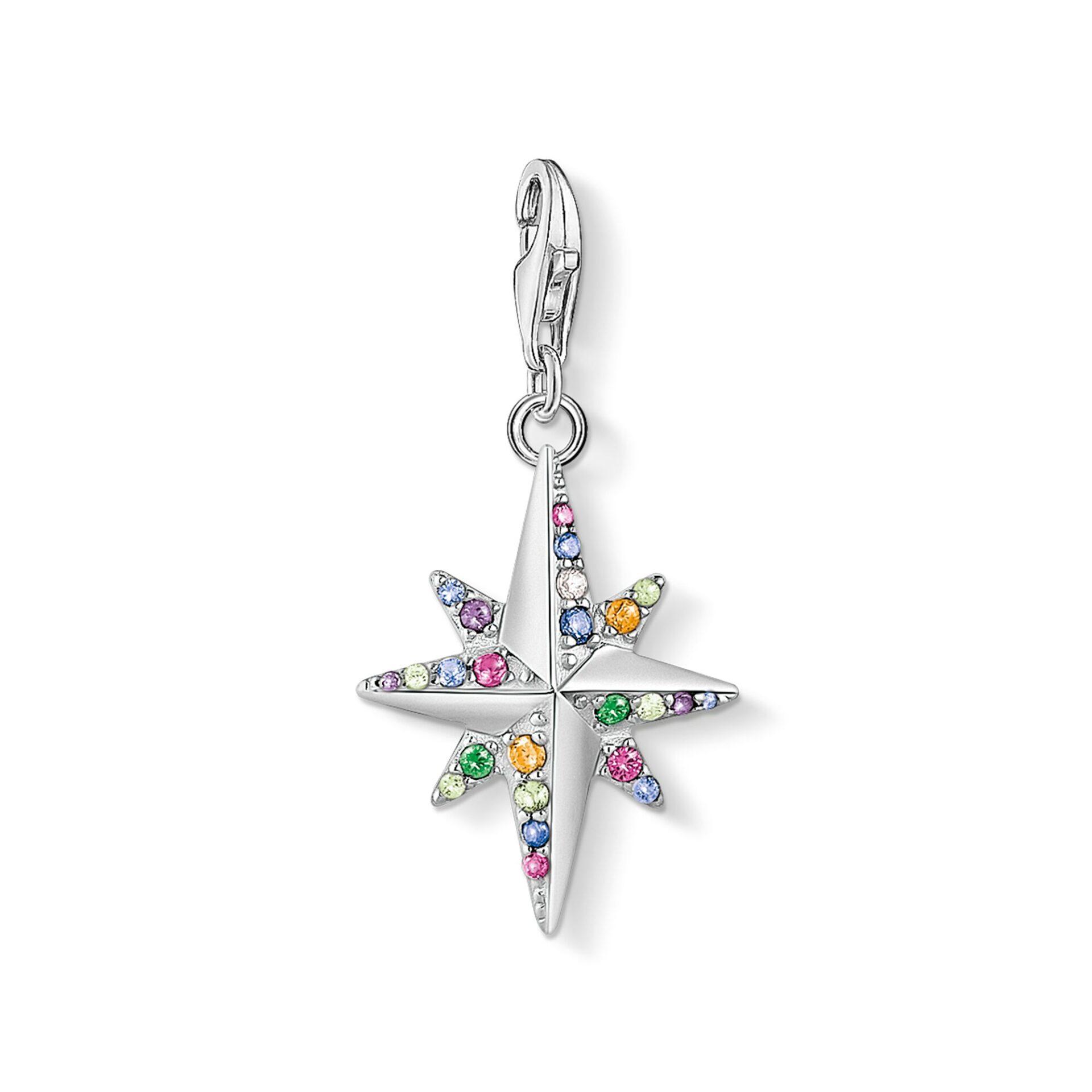 Pendentif Charm Étoile colorée argent Thomas Sabo