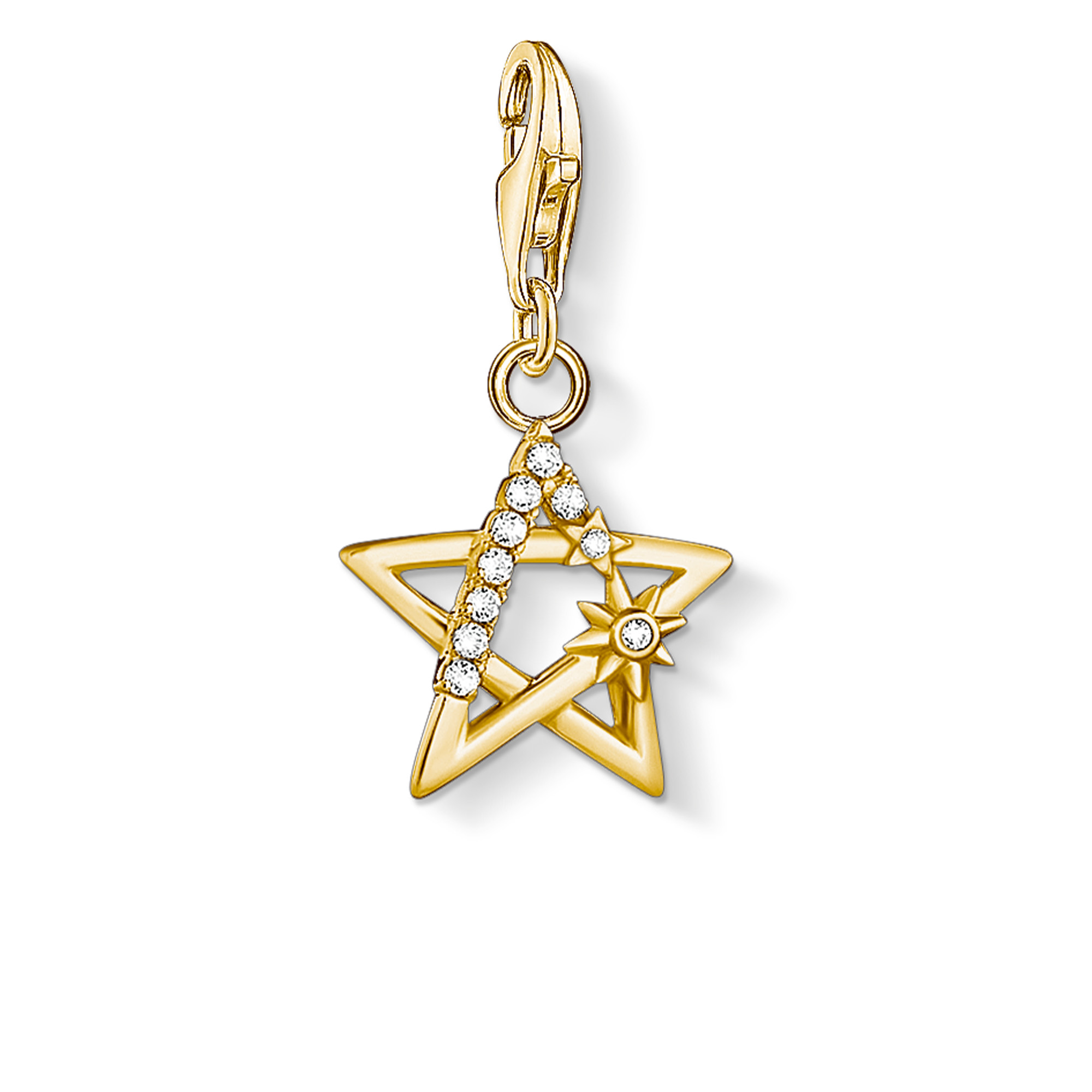 Pendentif Charm  étoile pierres or, Thomas Sabo
