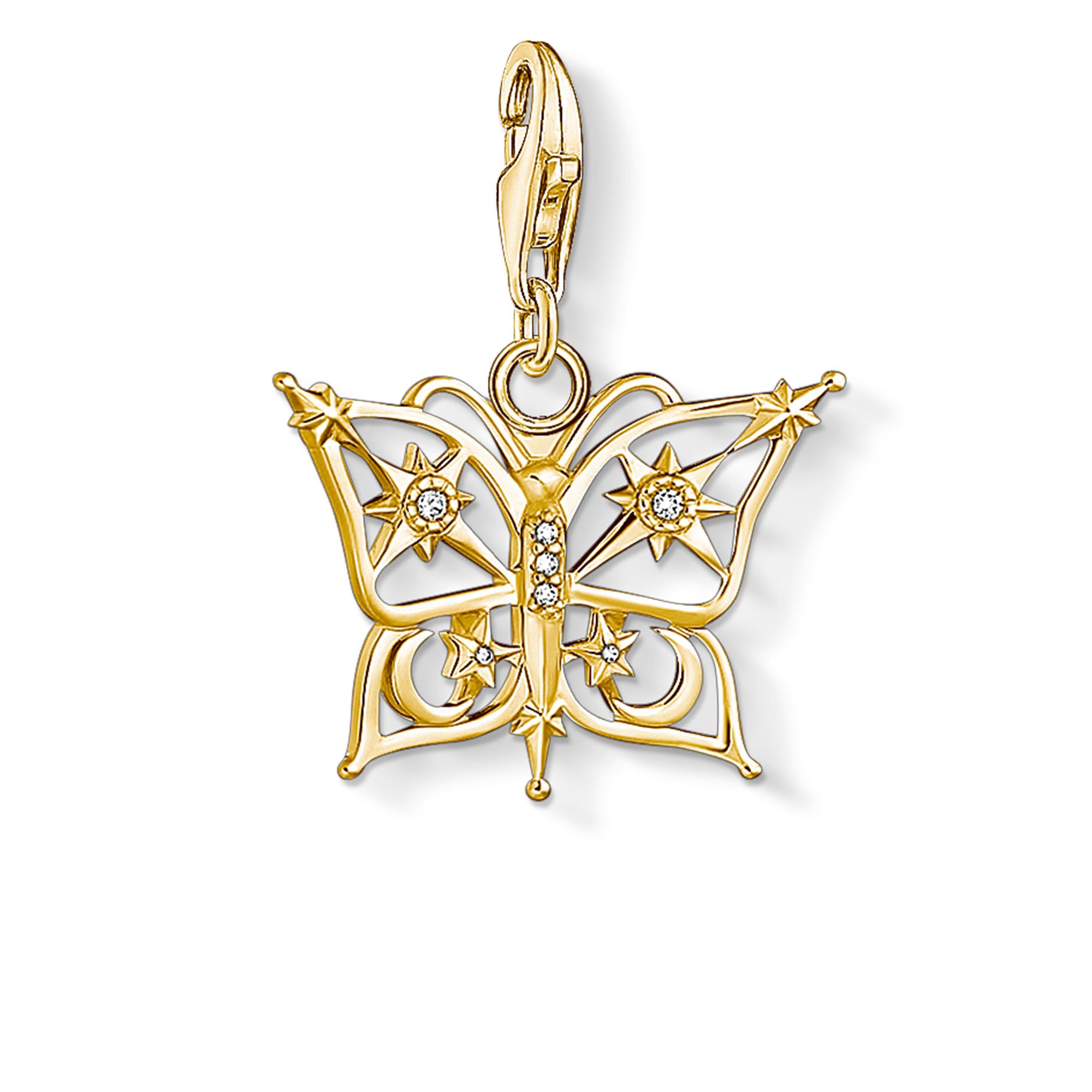 Pendentif Charm papillon étoile & lune or, Thomas Sabo
