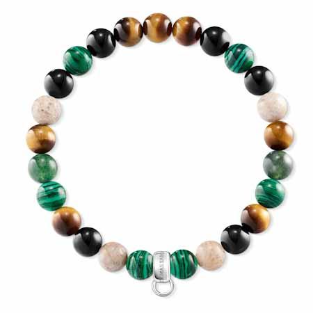 Bracelet Charm Marron, vert, blanc, Thomas Sabo