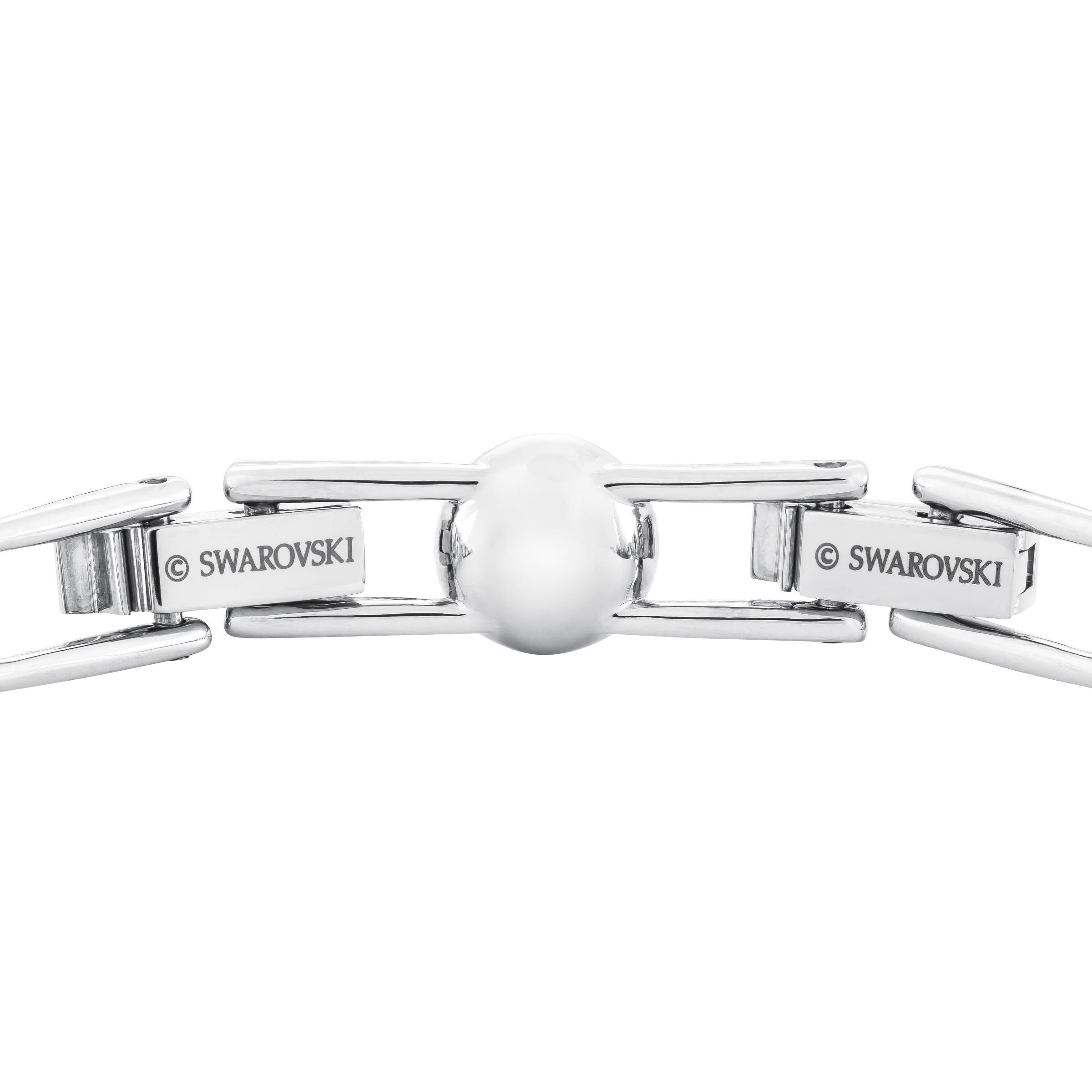 Bracelet Angelic, blanc, Métal rhodié Swarovski