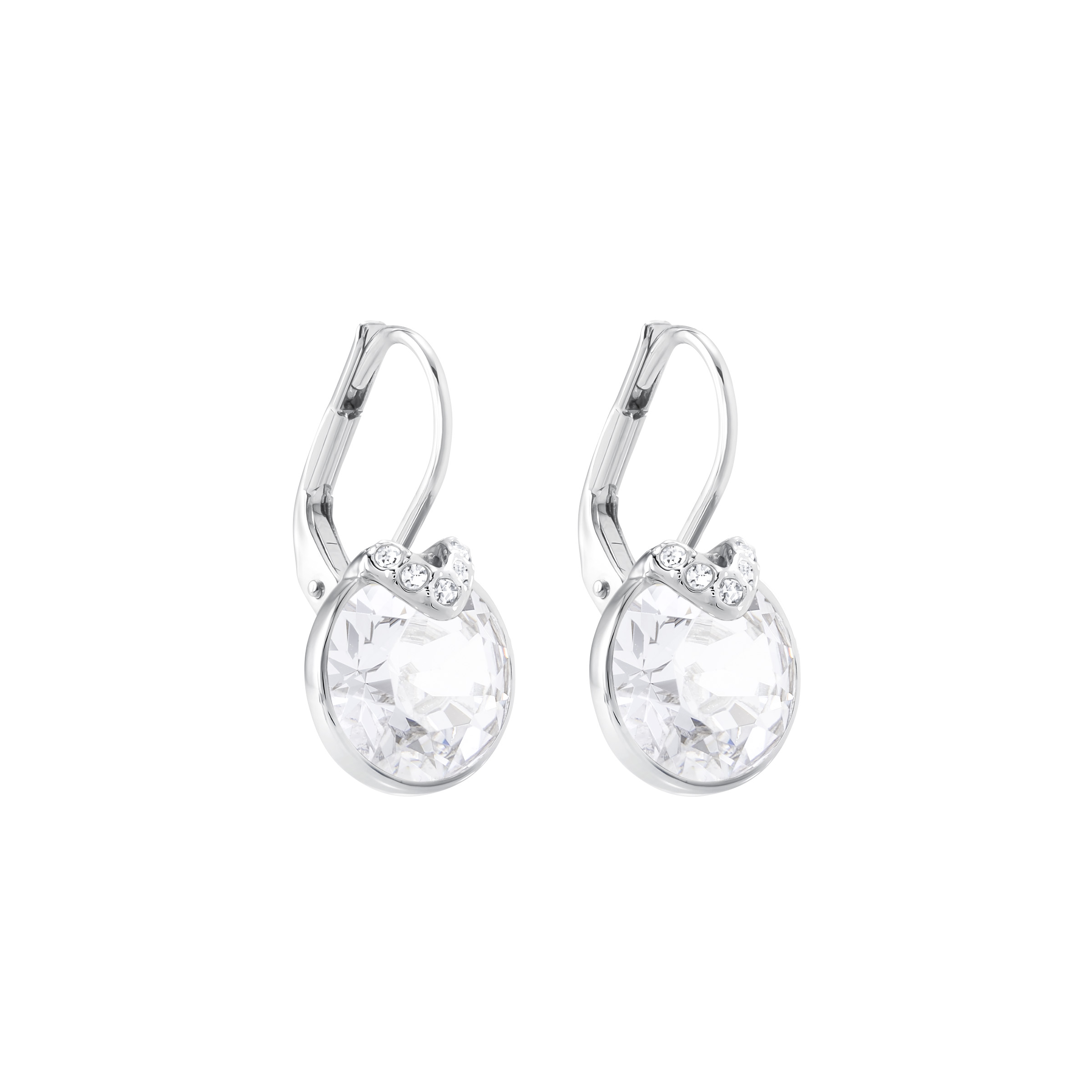 Boucles d'oreilles Bella V, blanc, Métal rhodié Swarovski