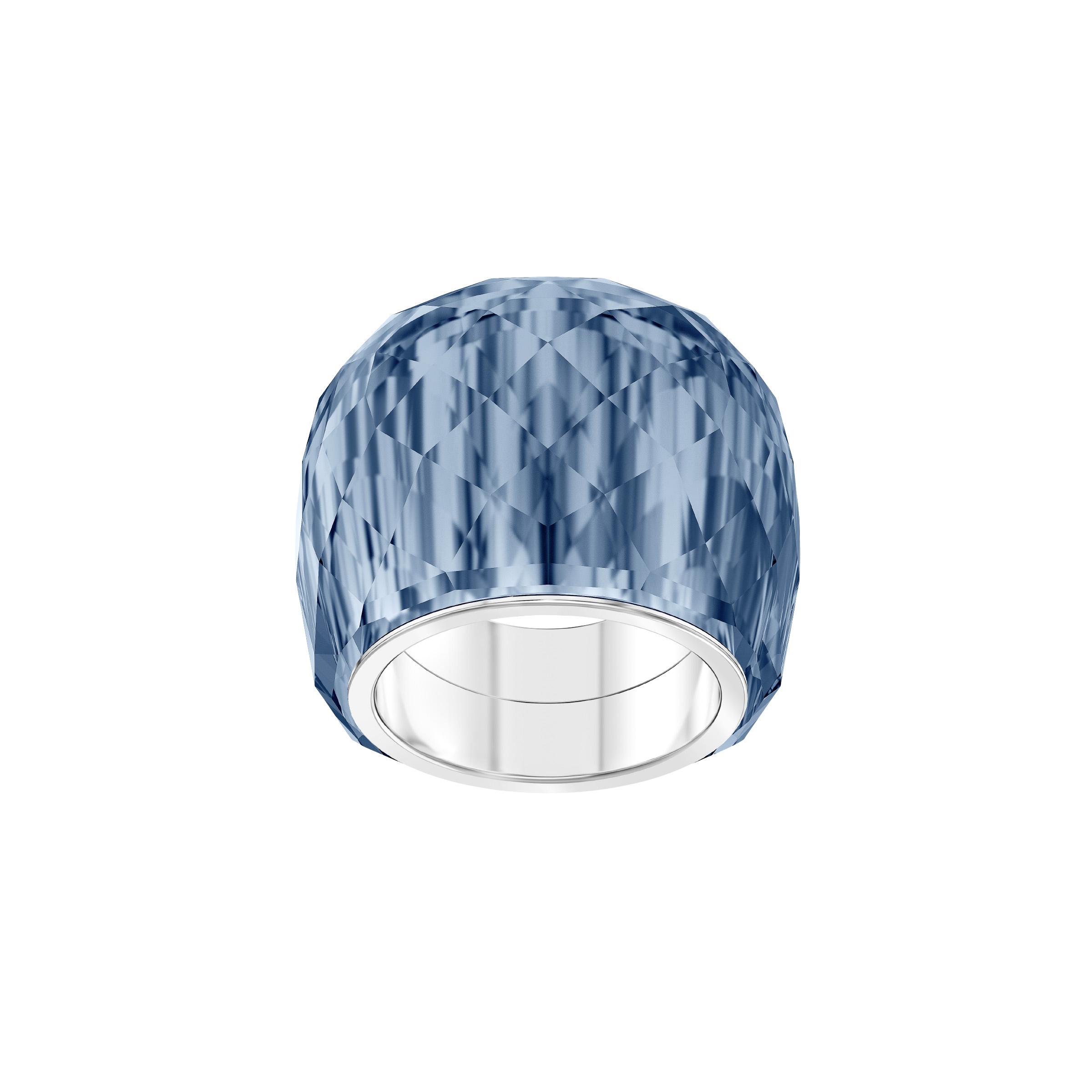 Bague Swarovski Nirvana, bleu, acier inoxydable, Swarovski