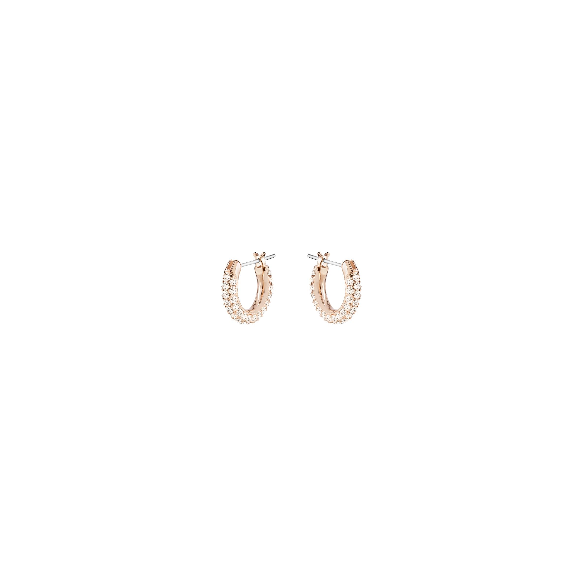 Boucles d'oreilles Stone, rose, Métal doré rose, Swarovski