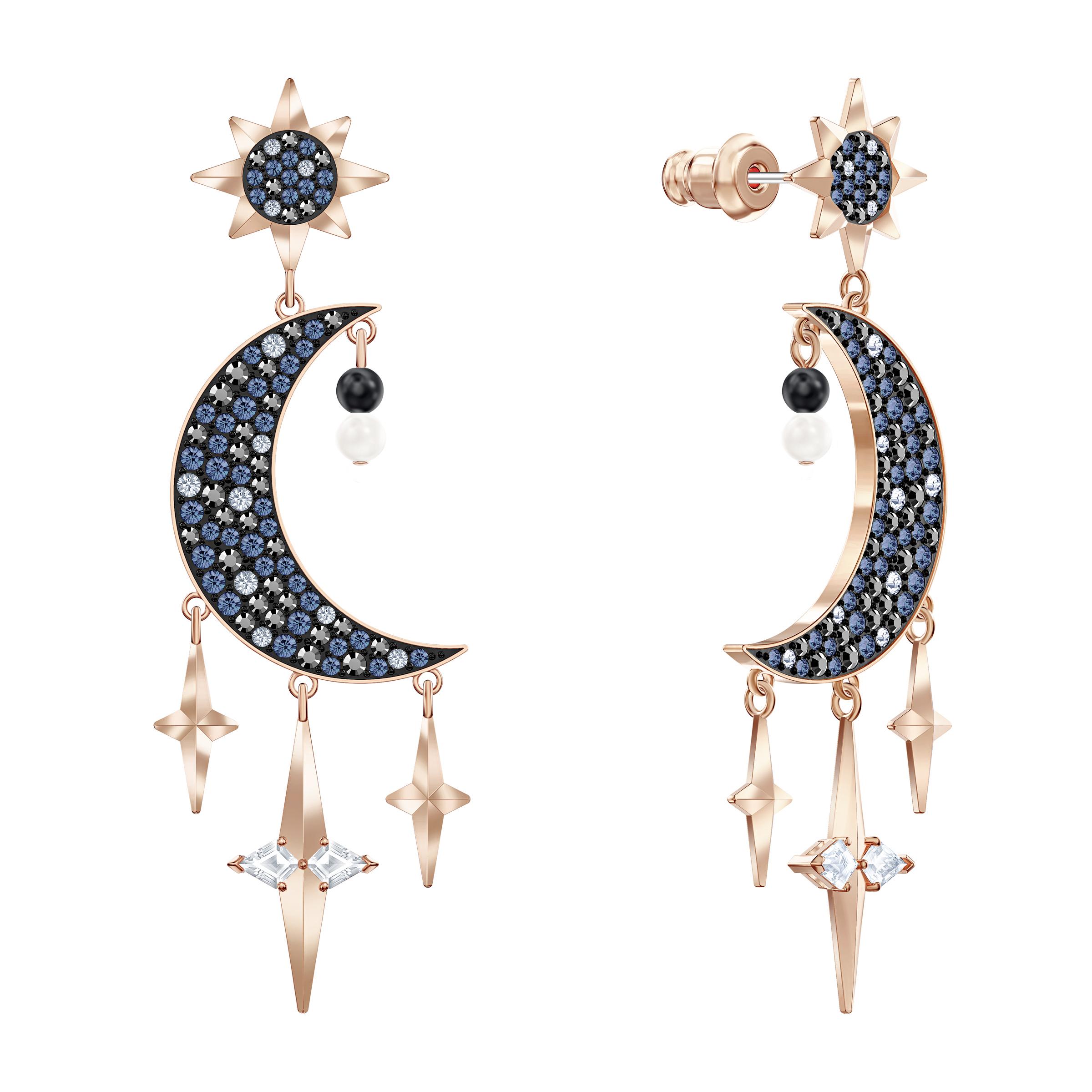 Boucles d'oreilles Swarovski Symbolic, multicolore, Finition mix de métal, Swarovski