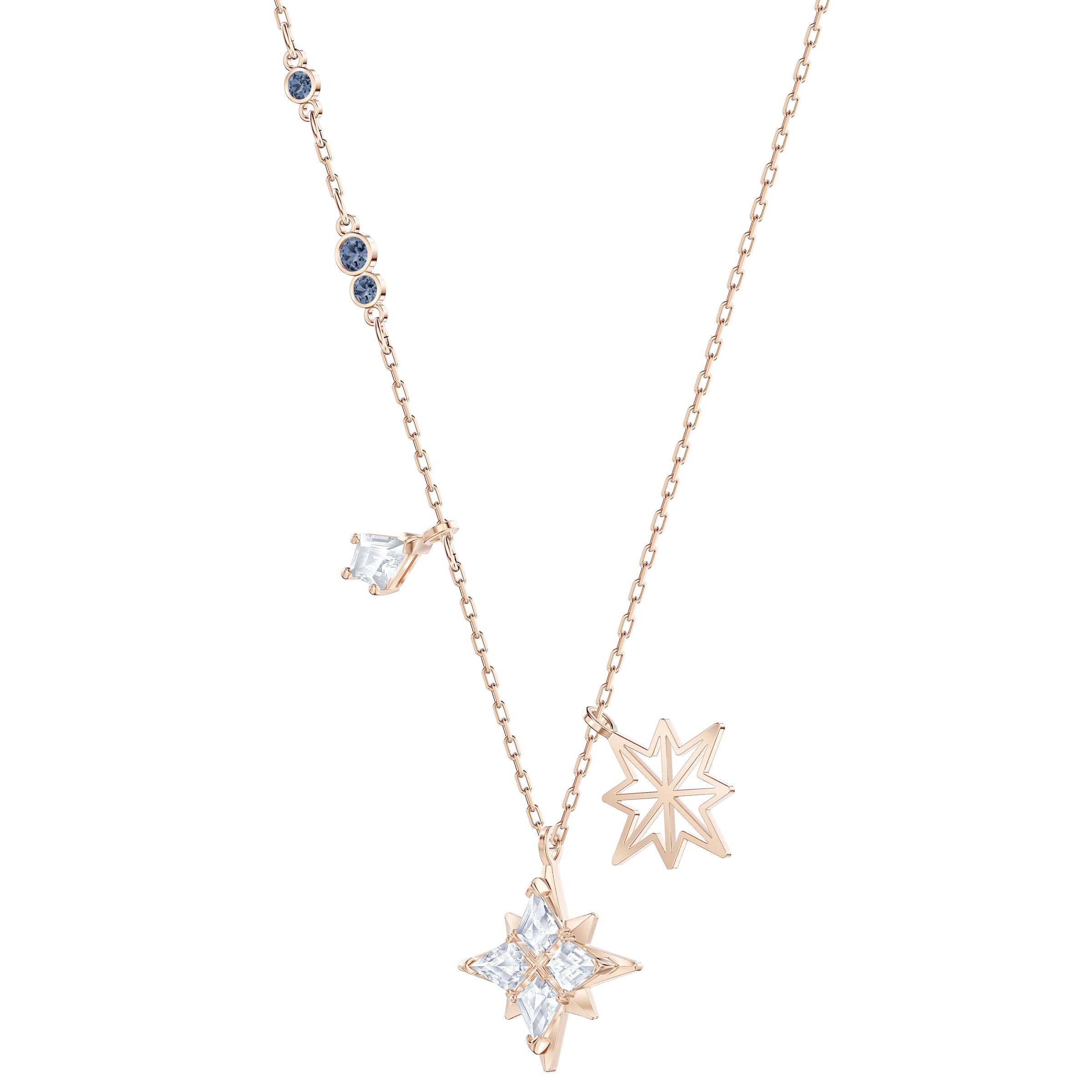 Pendentif Swarovski Symbolic Star, blanc, Métal doré rose, Swarovski