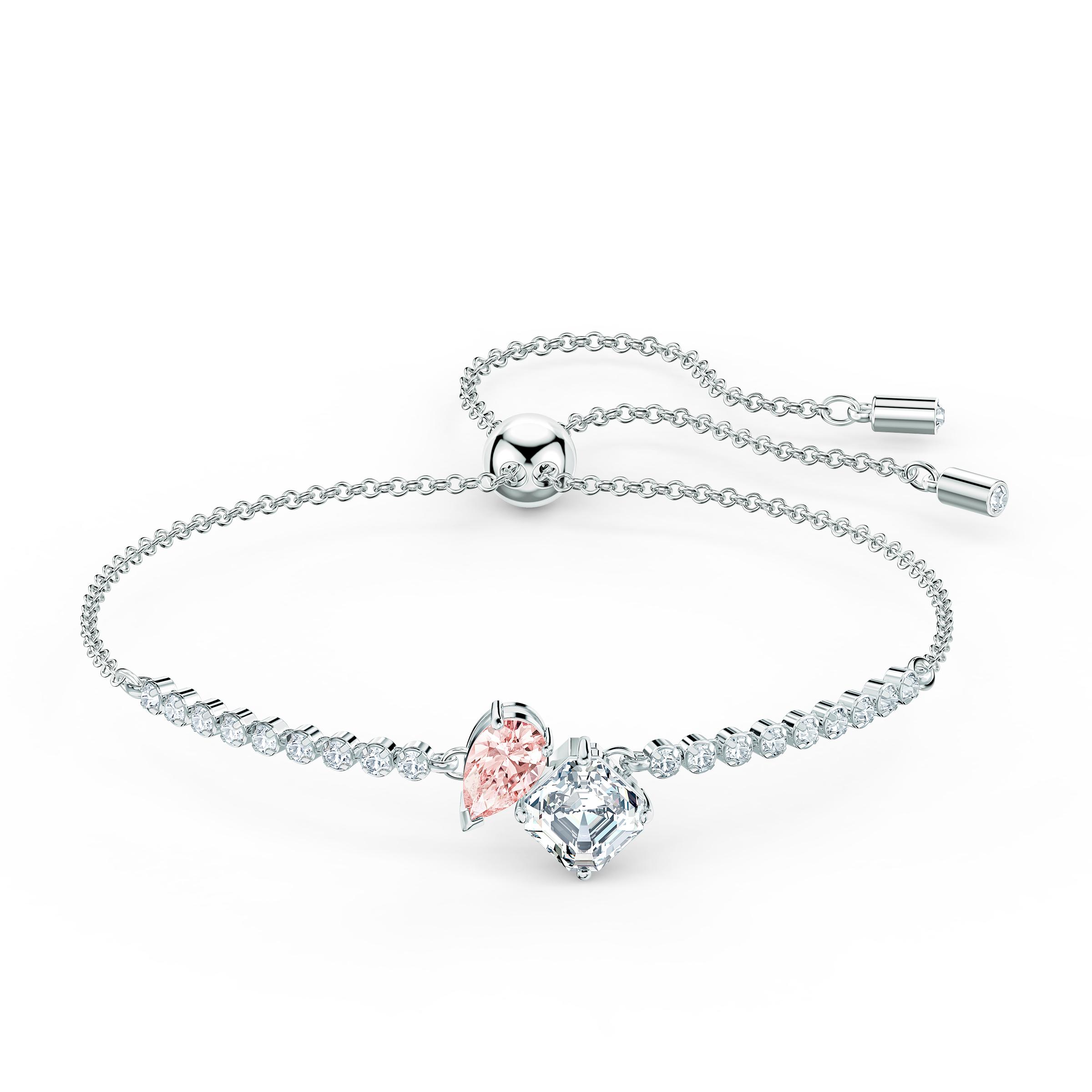 Bracelet Attract Soul, rose, métal rhodié, Swarovski