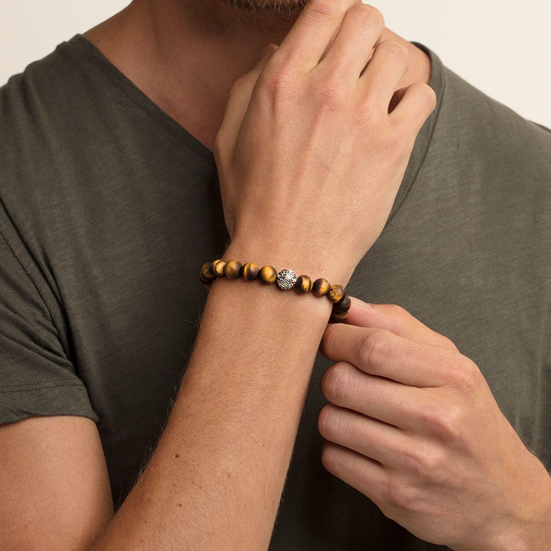 Bracelet Ethnique oeil-de-tigre marron, Thomas Sabo