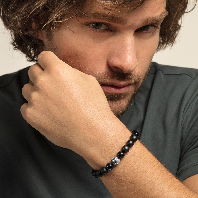 Bracelet Black Cat onyx, Thomas Sabo