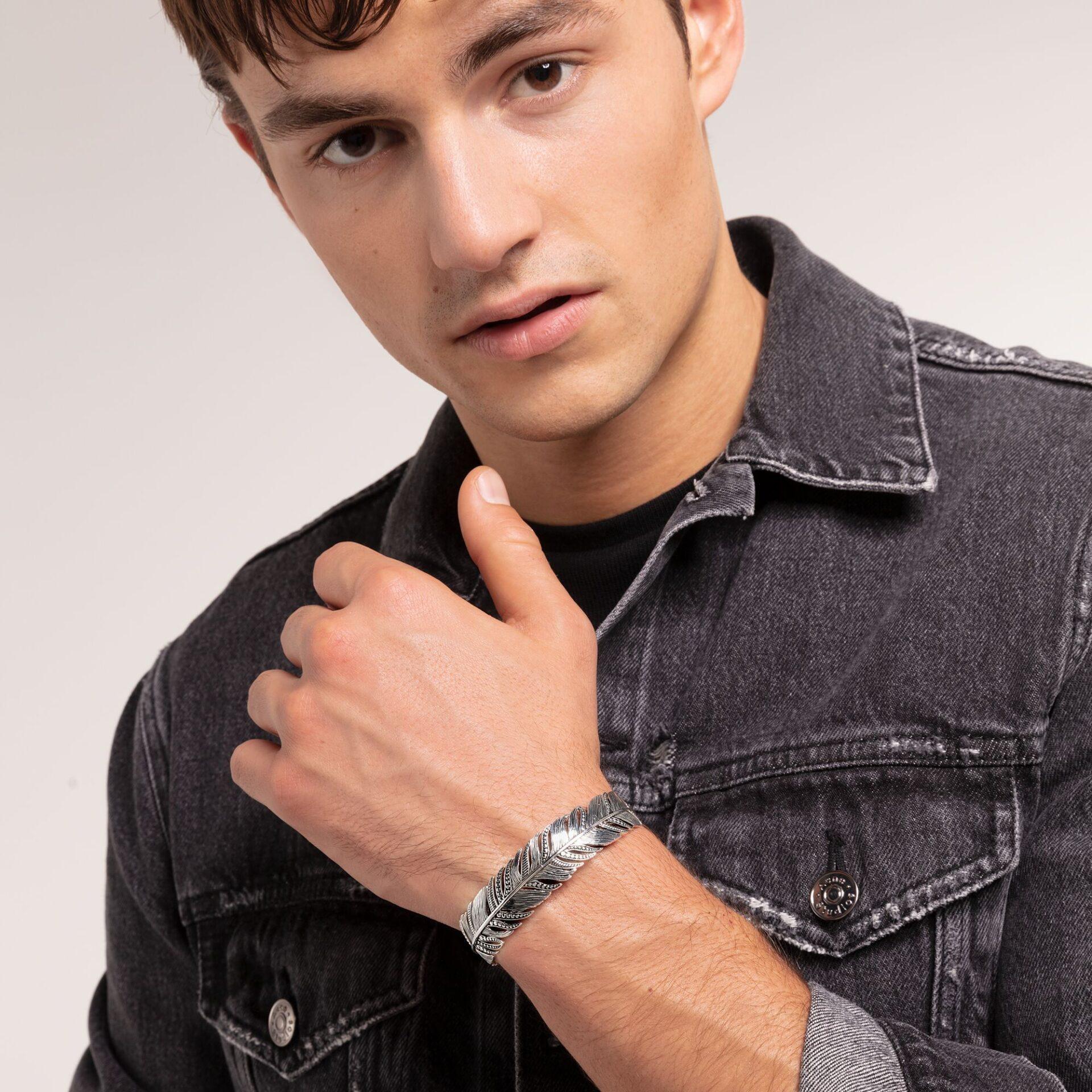 Bracelet Manchette Jonc Plume,Thomas Sabo