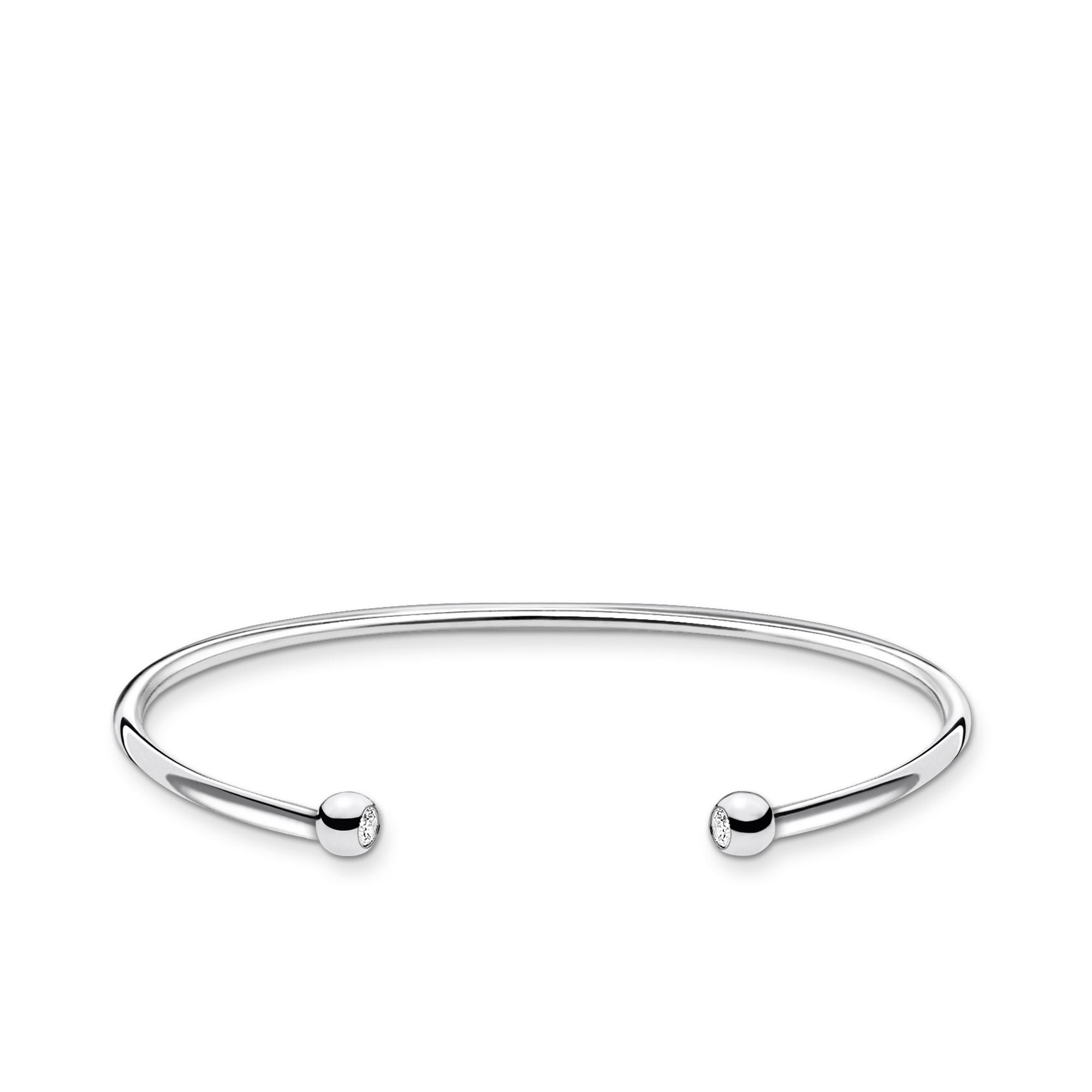 Bracelet jonc perles avec pierre, Thomas Sabo