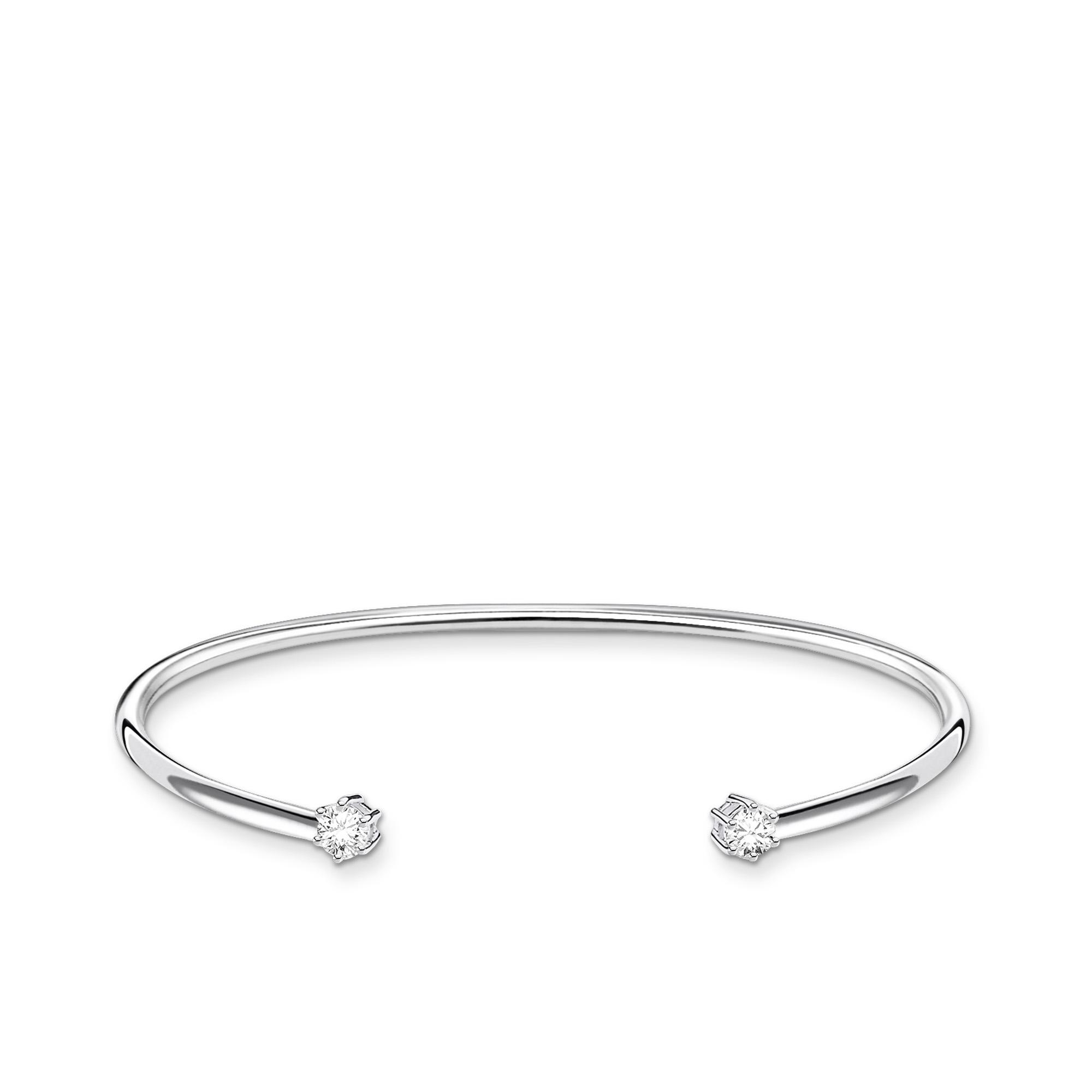 Bracelet Jonc pierre blanche,Thomas Sabo