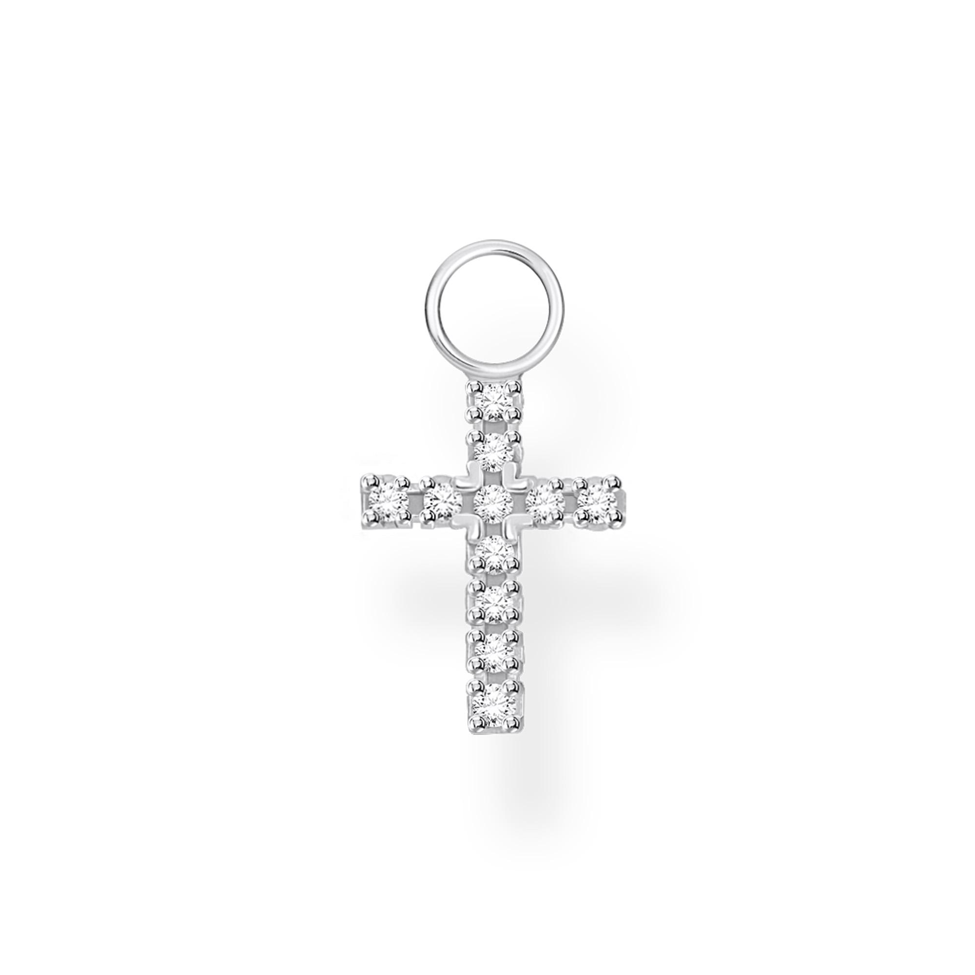 Pendentif pour boucle d'oreille unique croix, Thomas Sabo