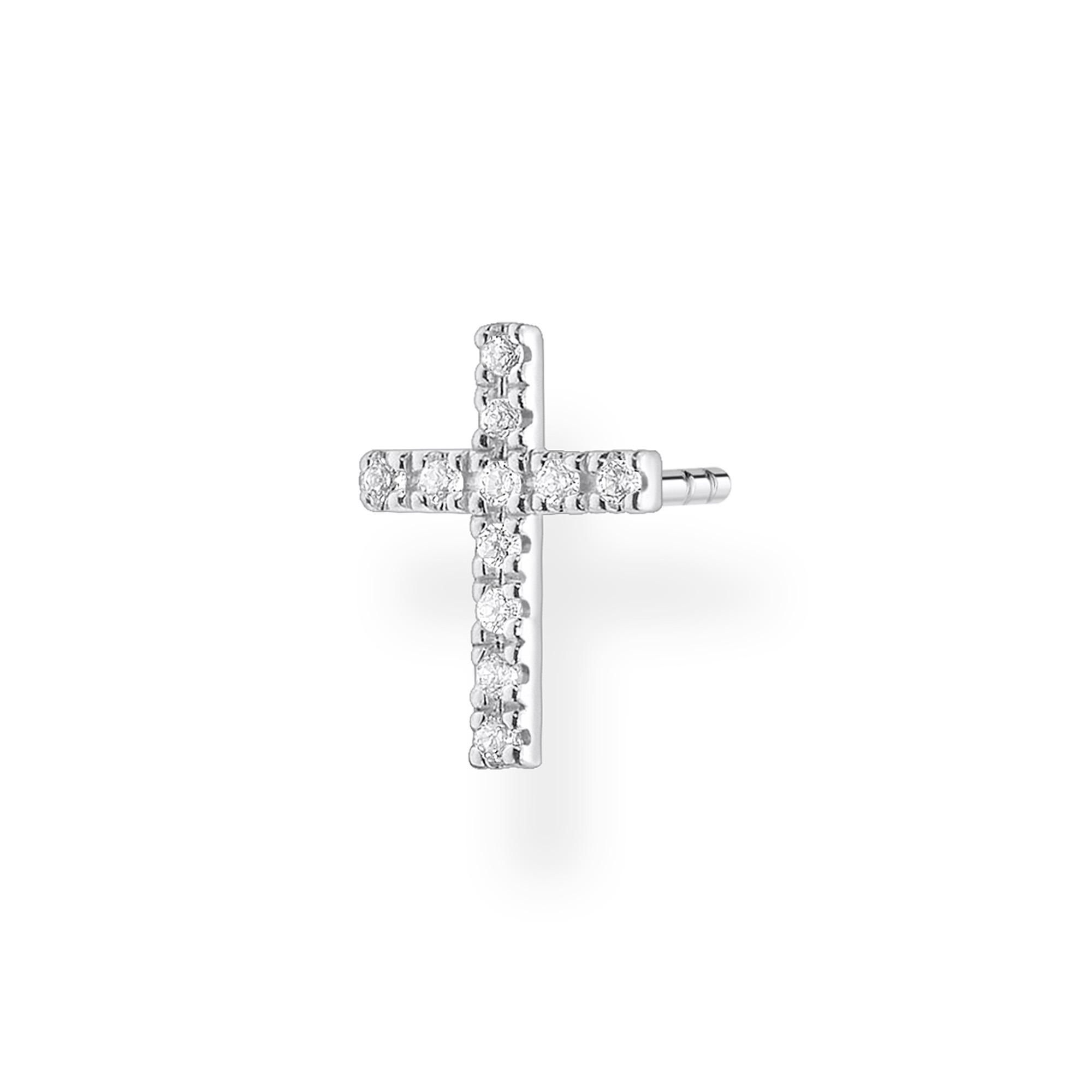 Clou d'oreille unique croix, Thomas Sabo