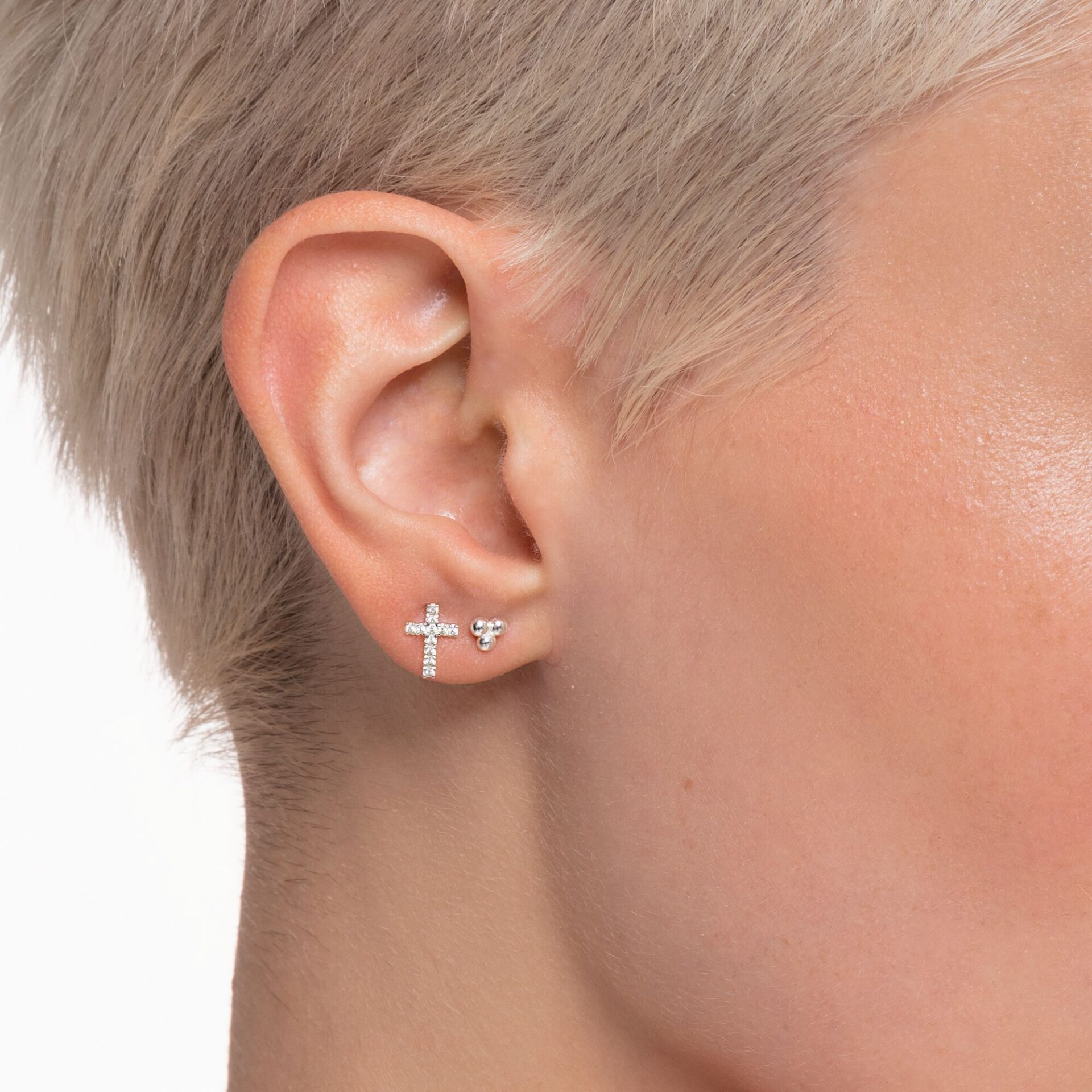 Clou d'oreille unique perles argent, Thomas Sabo