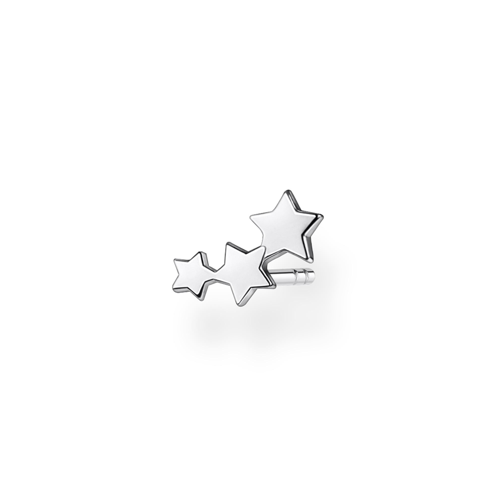 Clou d'oreille unique étoiles argent, Thomas Sabo