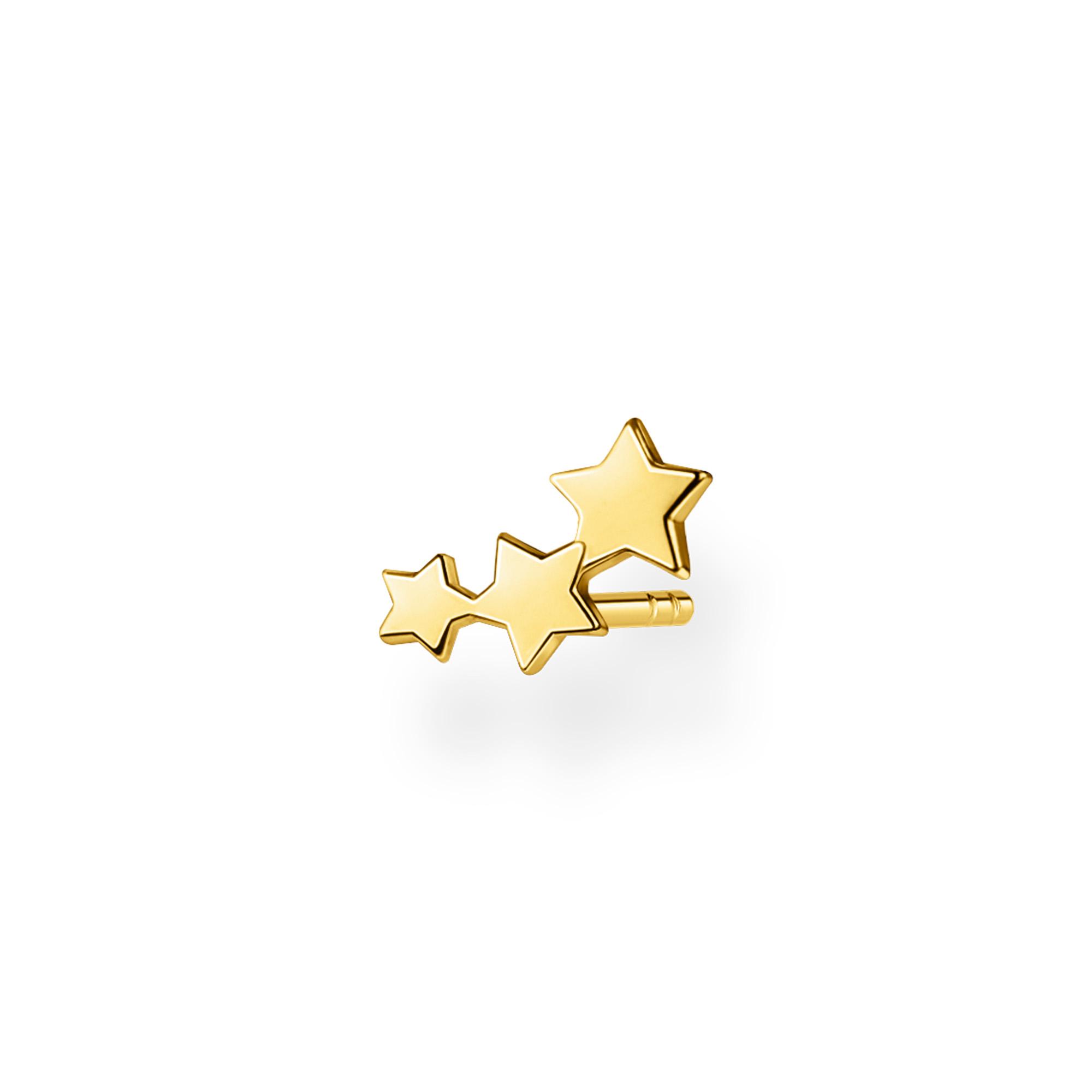 Clou d'oreille unique étoiles or, Thomas Sabo