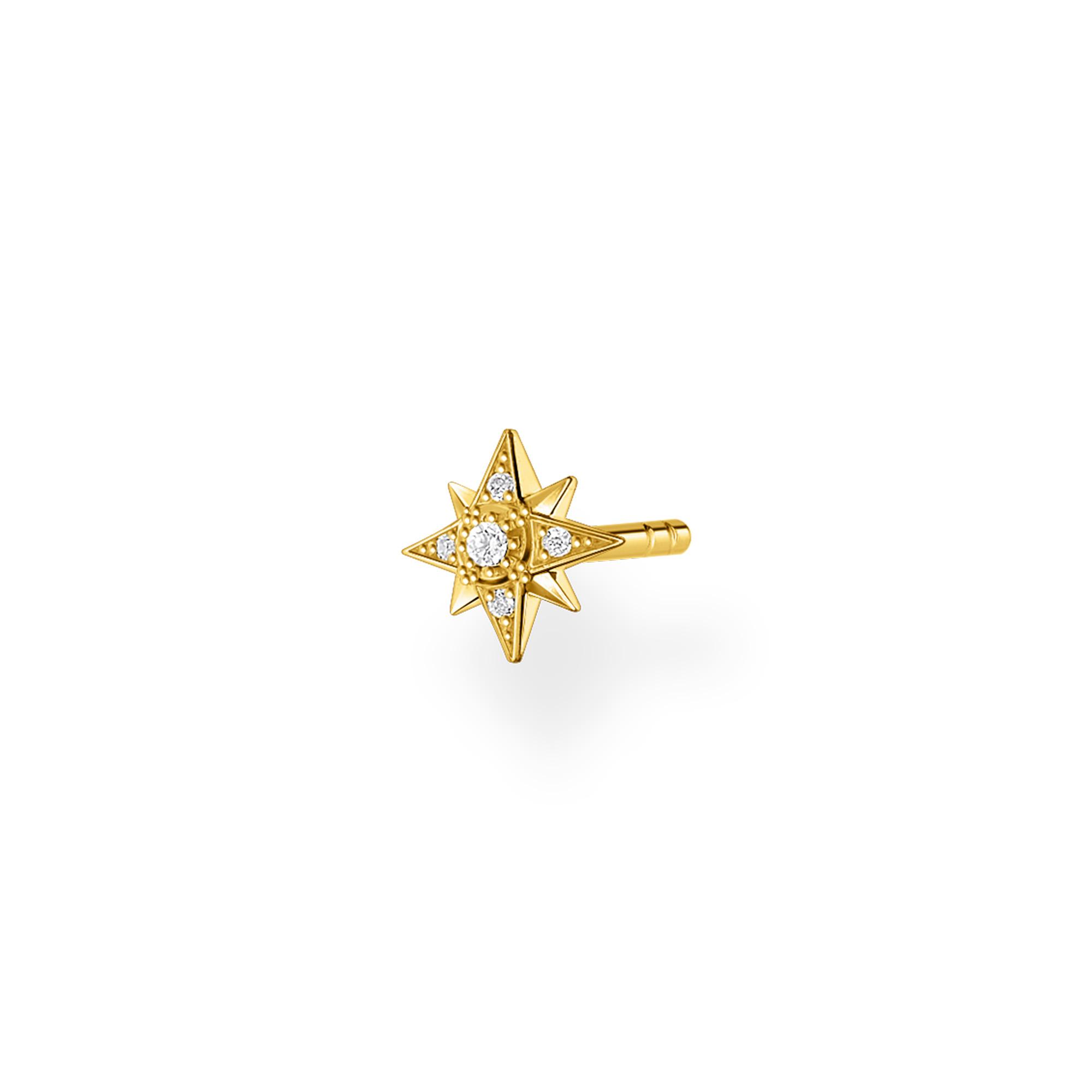 Clou d'oreille unique étoile or, Thomas Sabo