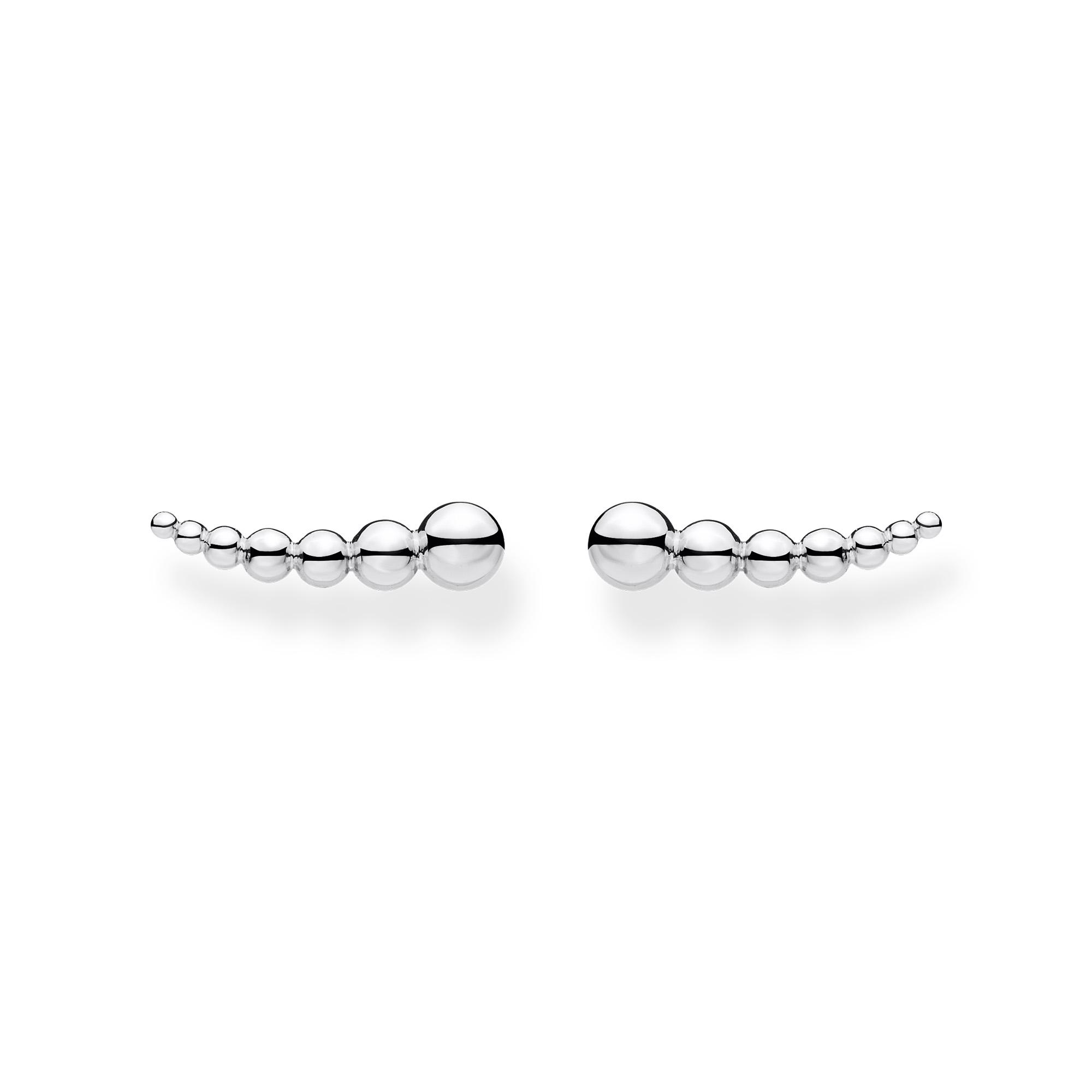 Boucles d'oreilles grimpante perles argent, Thomas Sabo