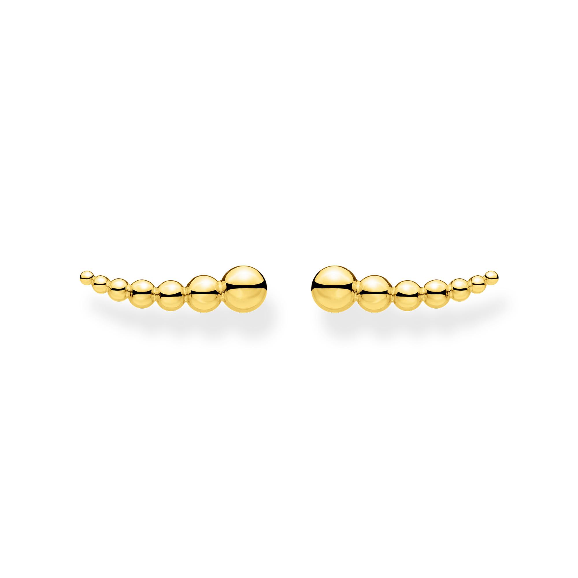 Boucles d'oreilles grimpante perles or, Thomas Sabo