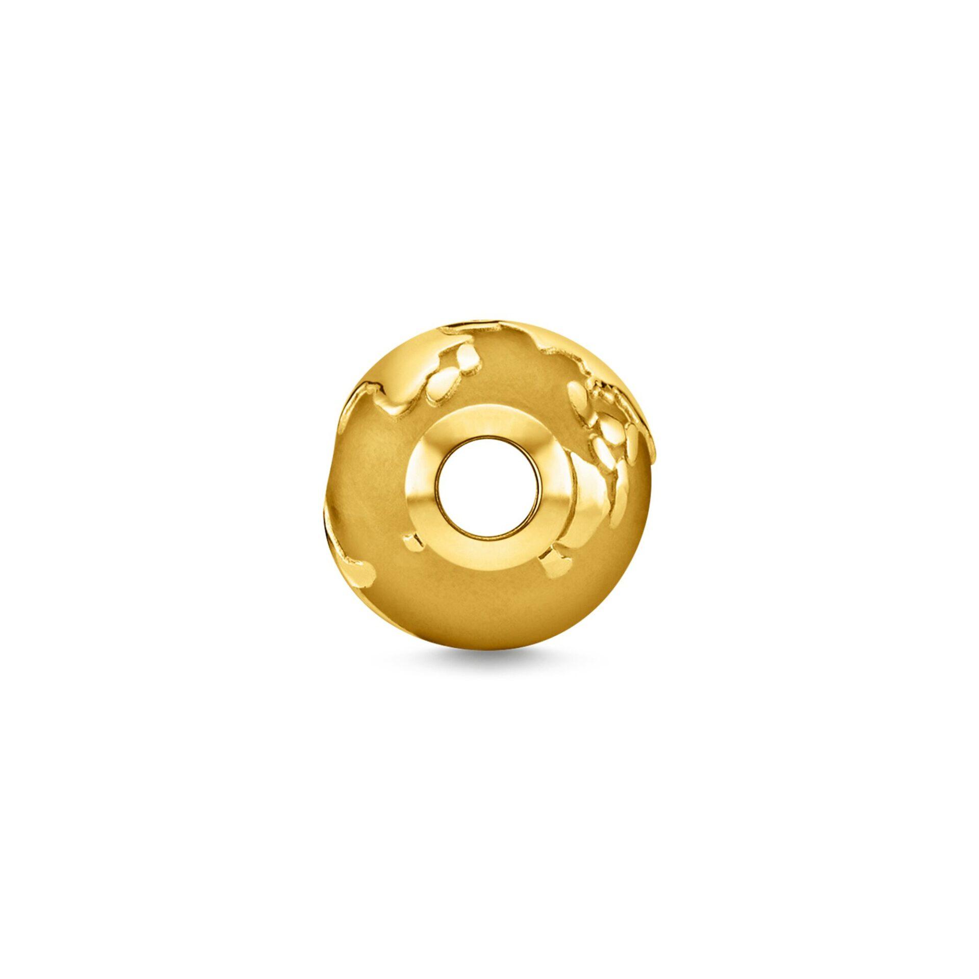 Bead globe terrestre or, Thomas Sabo
