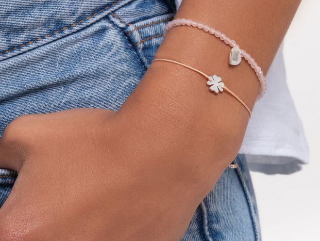 Bracelet rose perles coeur, Thomas Sabo