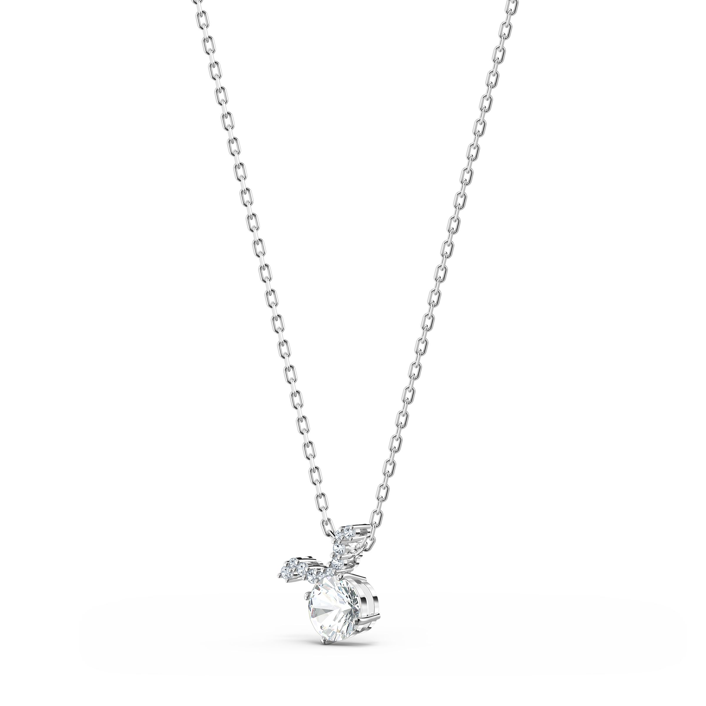 Pendentif Zodiac II, Taureau, blanc, finition mix de métal, Swarovski