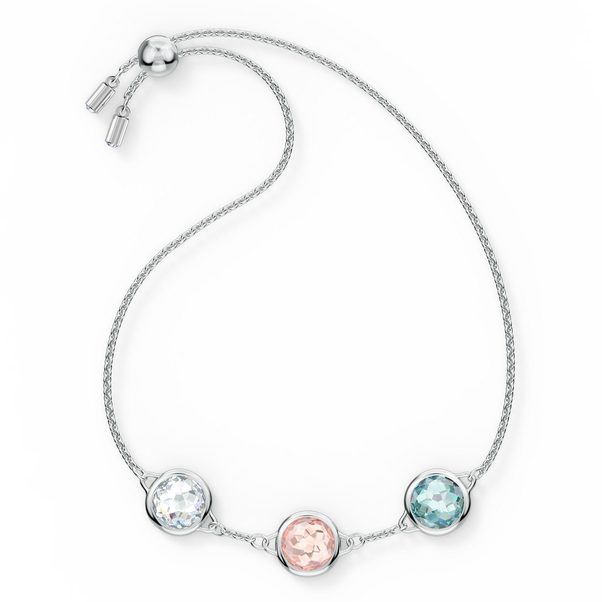 Bracelet Tahlia, métal rhodié, Swarovski