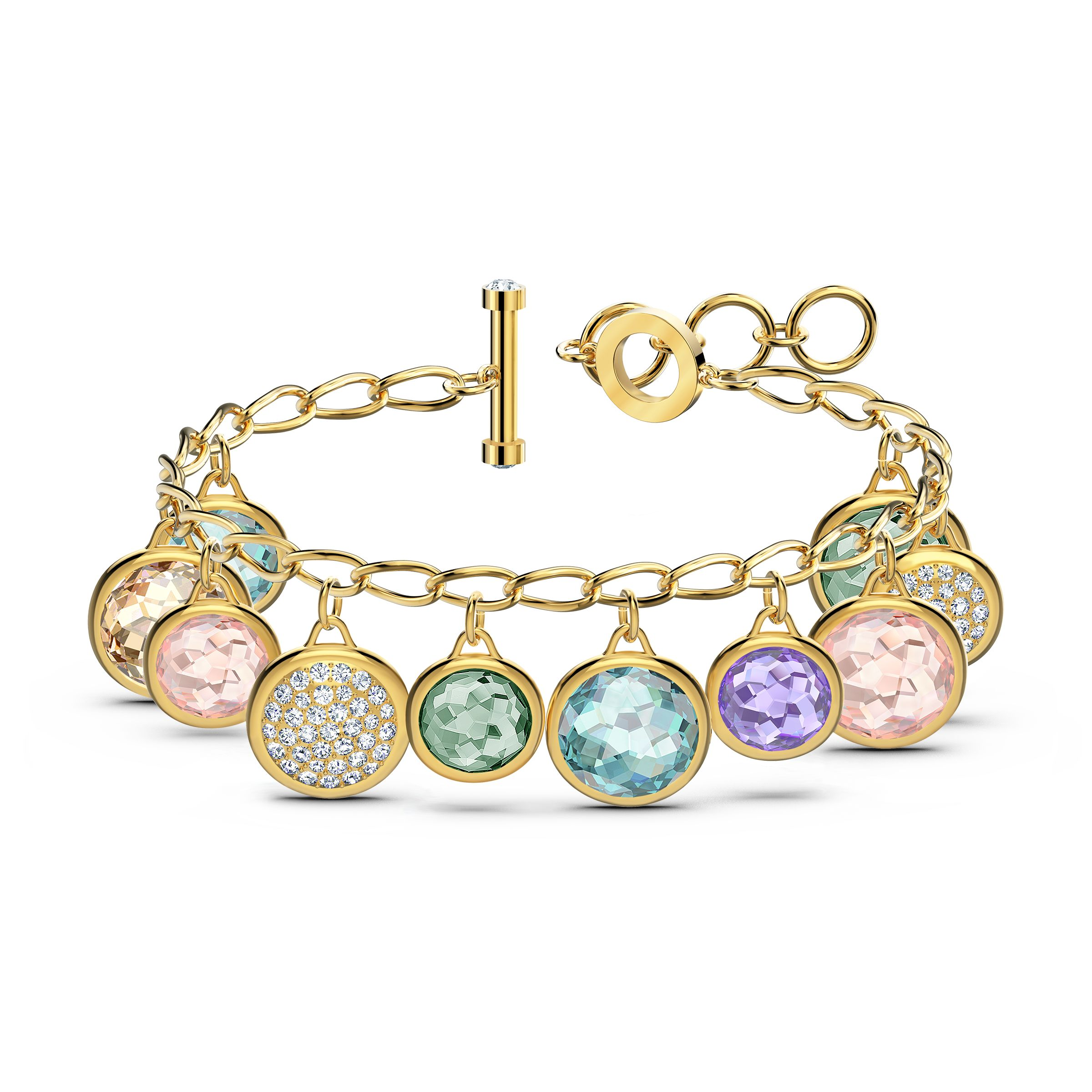 Bracelet Tahlia Elements, métal doré, Swarovski