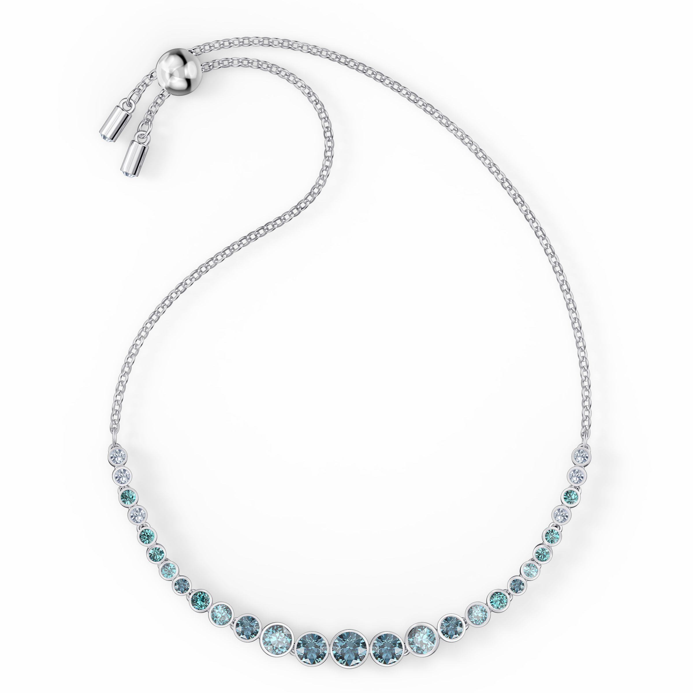Bracelet Emily Gradient, bleu, métal rhodié, Swarovski