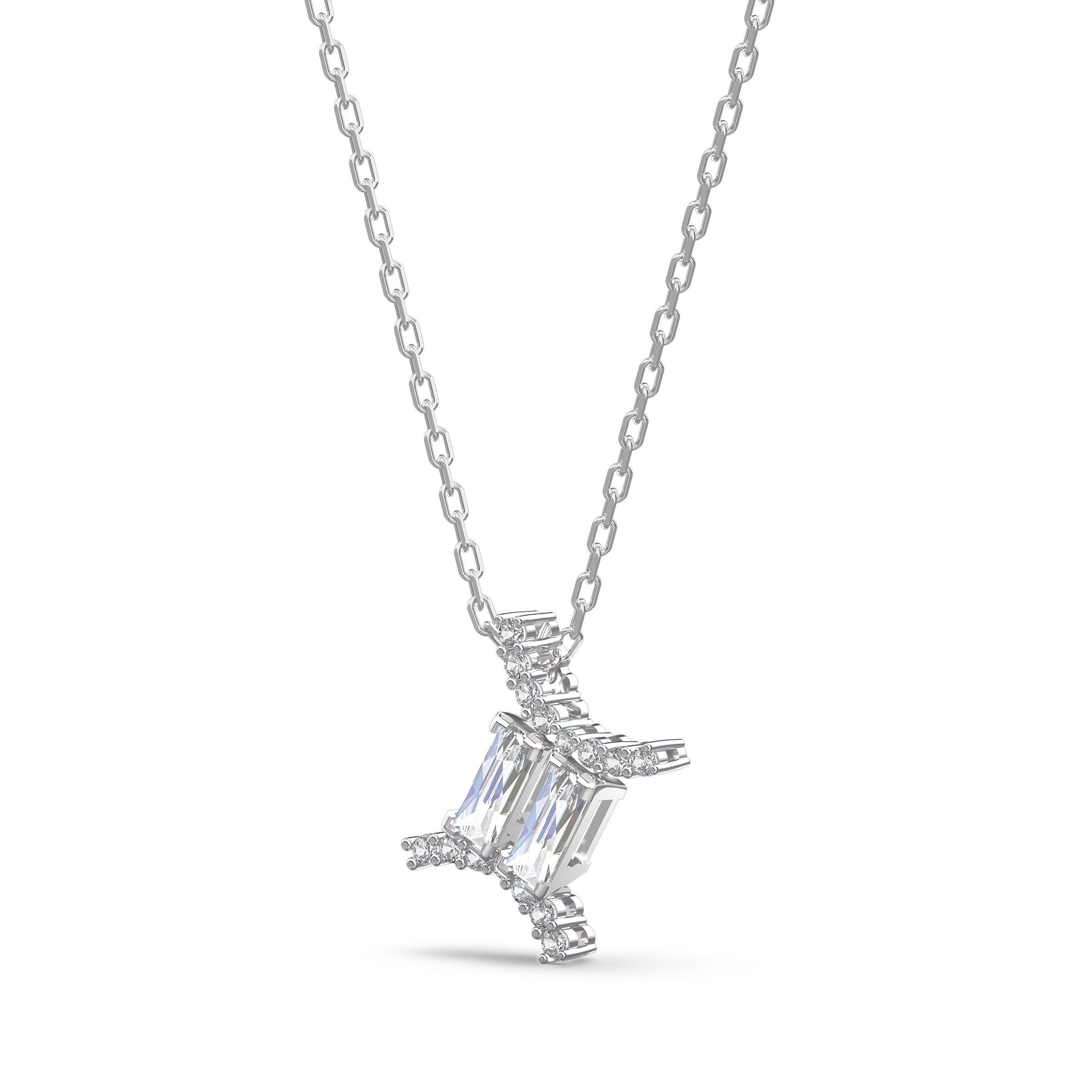 Pendentif Zodiac II, Gémeaux, blanc, finition mix de métal, Swarovski