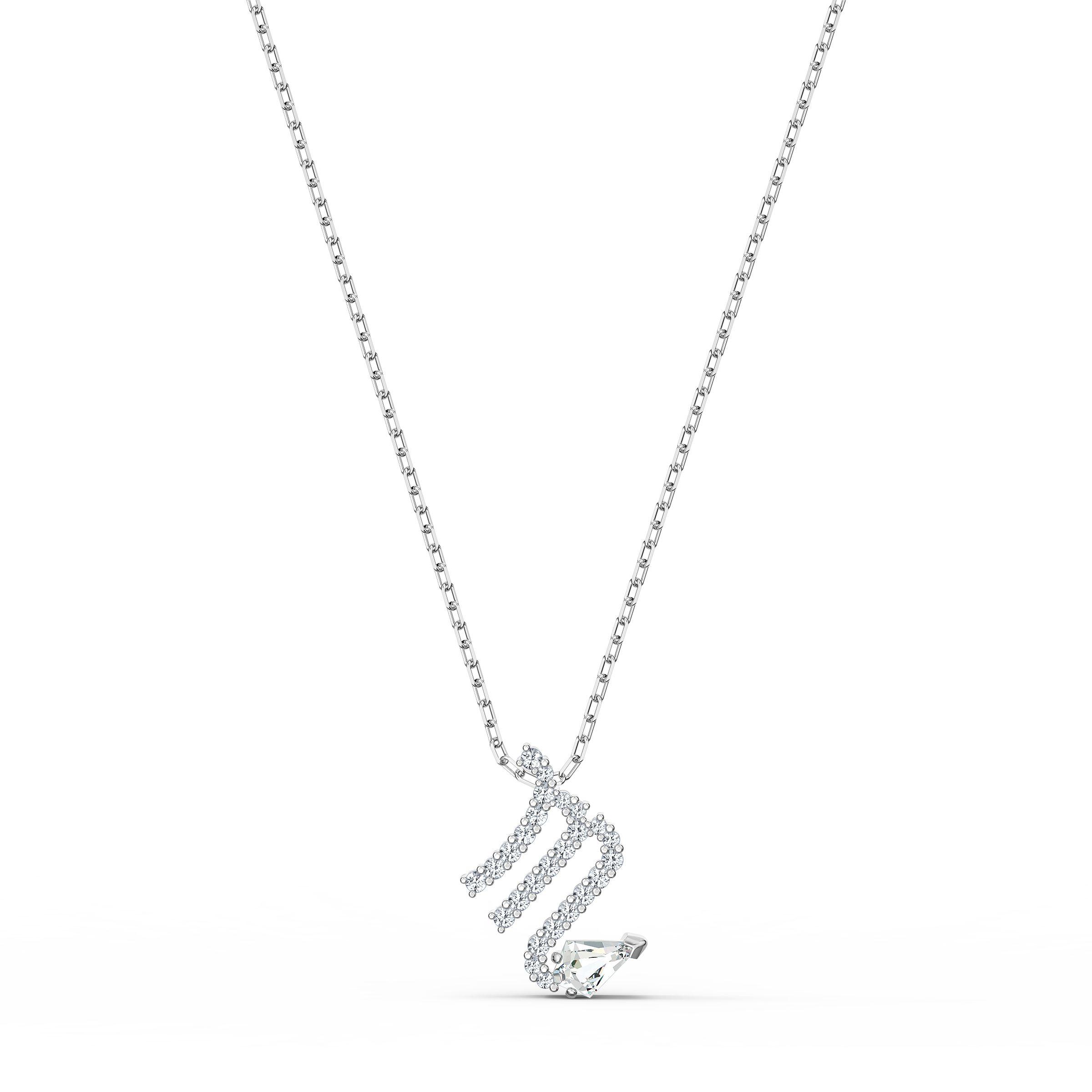 Pendentif Zodiac II, Scorpion, blanc, finition mix de métal, Swarovski