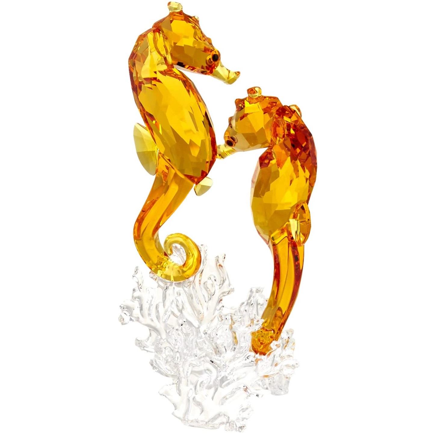 Hippocampe Couple Figurine de Collection, Swarovski