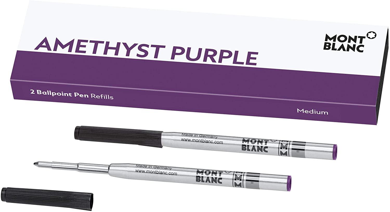 2 recharges pour stylo bille (M), Amethyst Purple, Montblanc