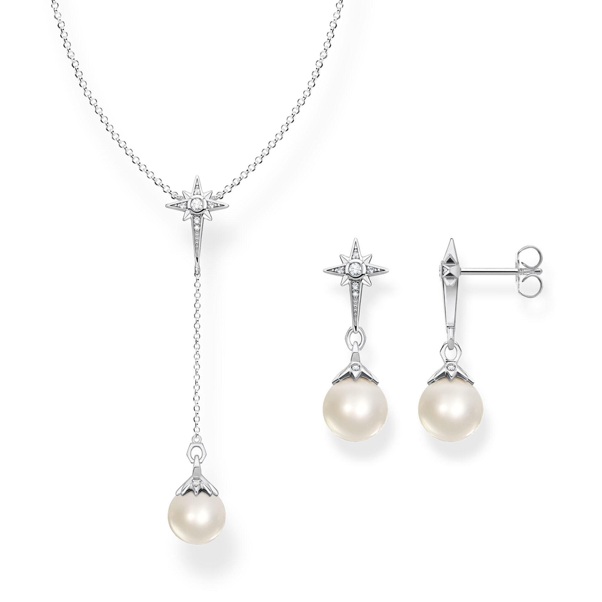 Boucles d'oreilles perle étoile argent, Thomas Sabo