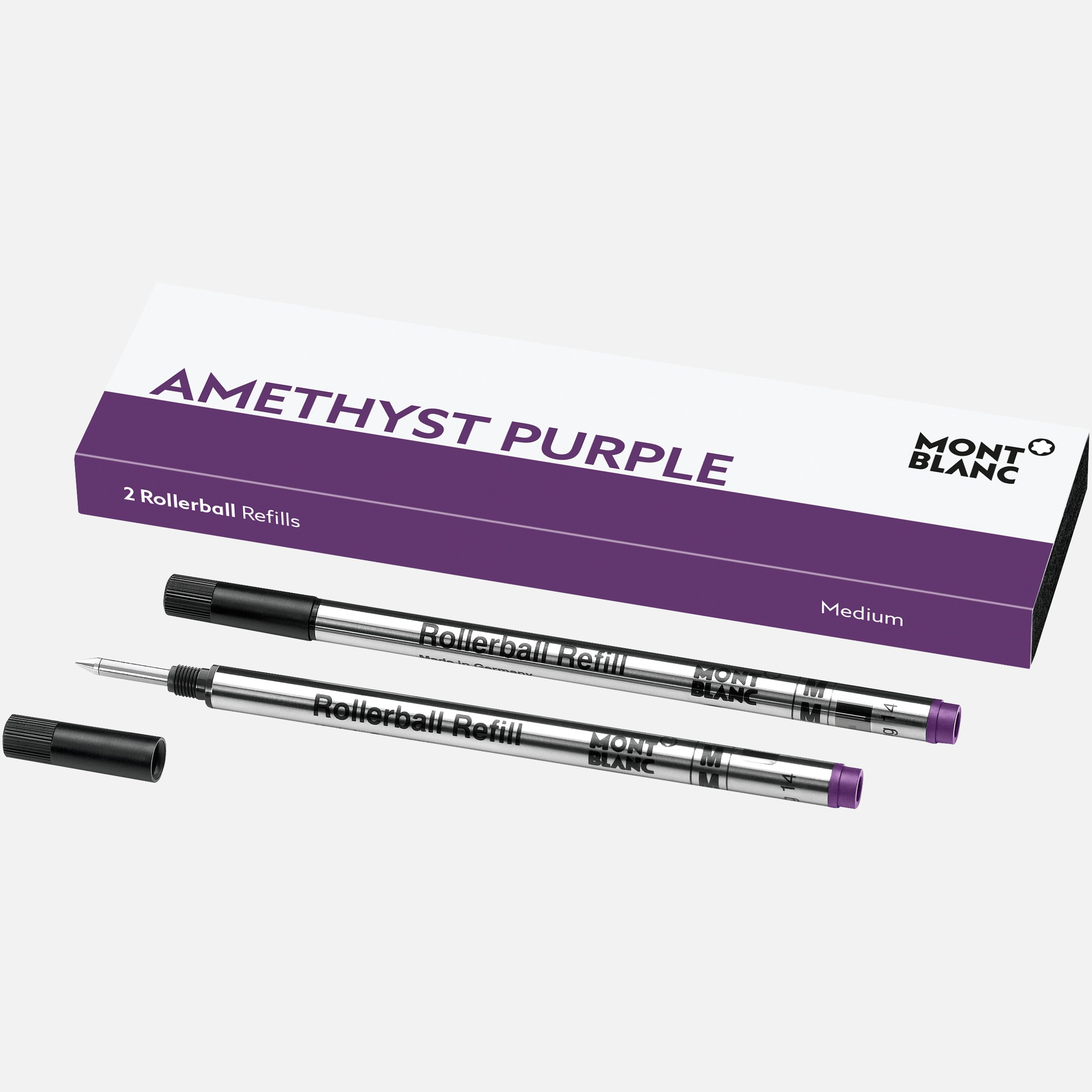 2 recharges pour rollerball (M) Amethyst Purple, Montblanc
