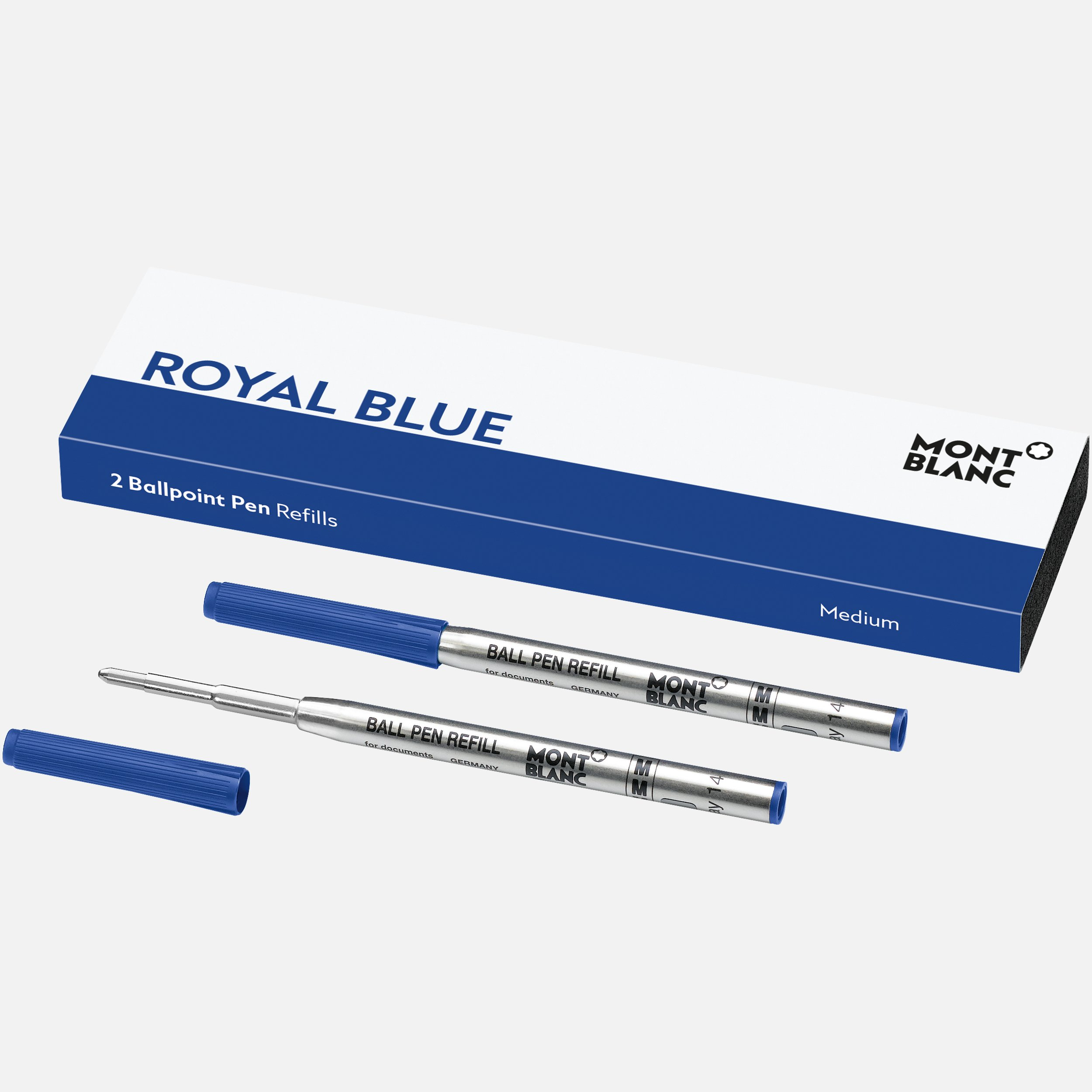 2 recharges pour stylo bille, Royal Blue, Montblanc