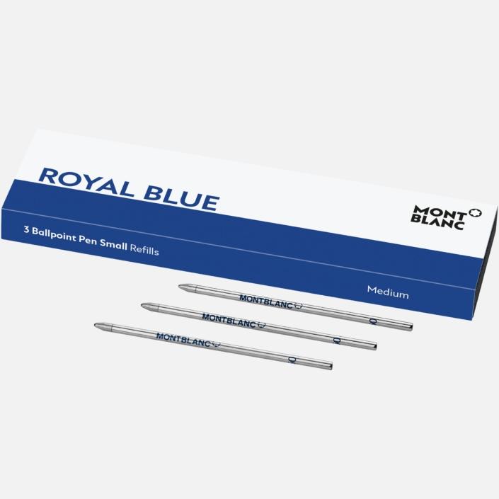 3 recharges pour bille petit modèle, Royal Blue, Montblanc