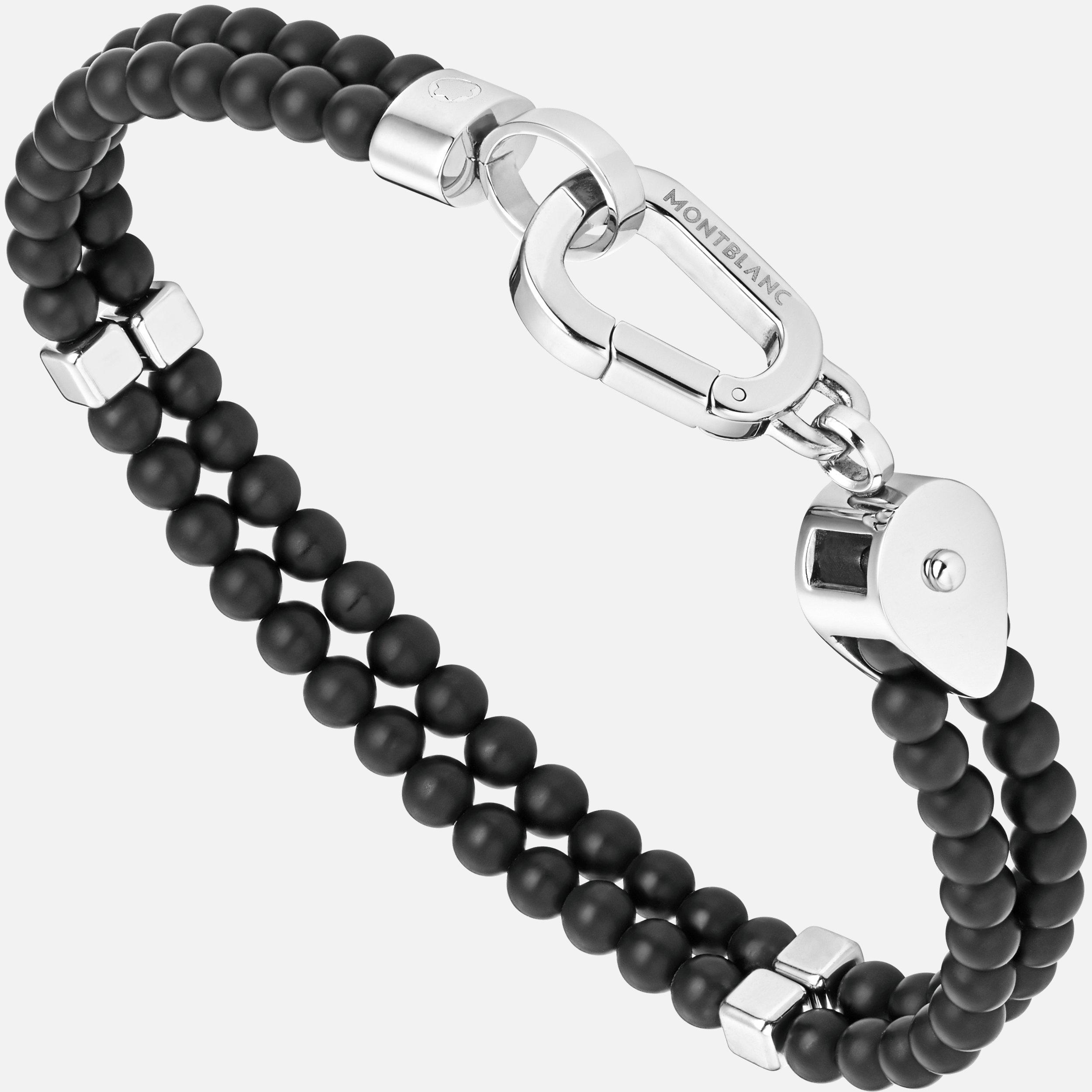 Bracelet double Wrap Me en onyx et acier, Montblanc