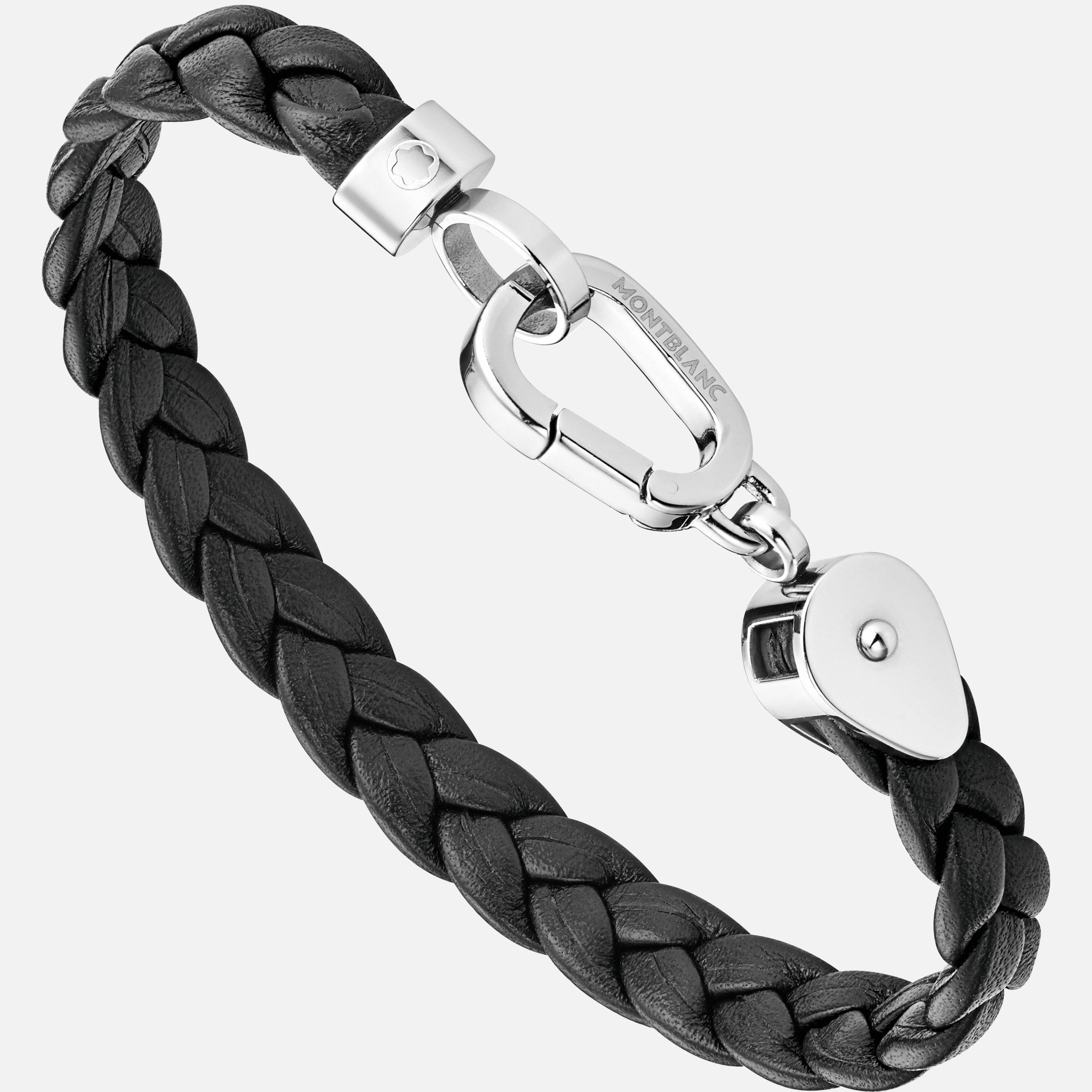 Bracelet Wrap Me en cuir tressé, Montblanc