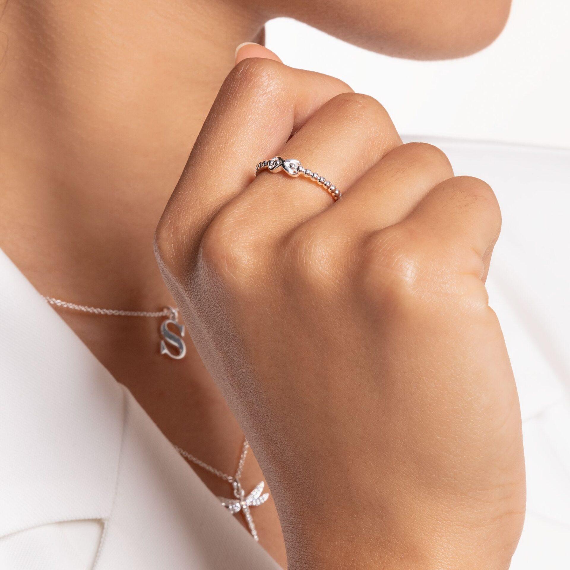 Bague perles avec Infinity argent, Thomas Sabo