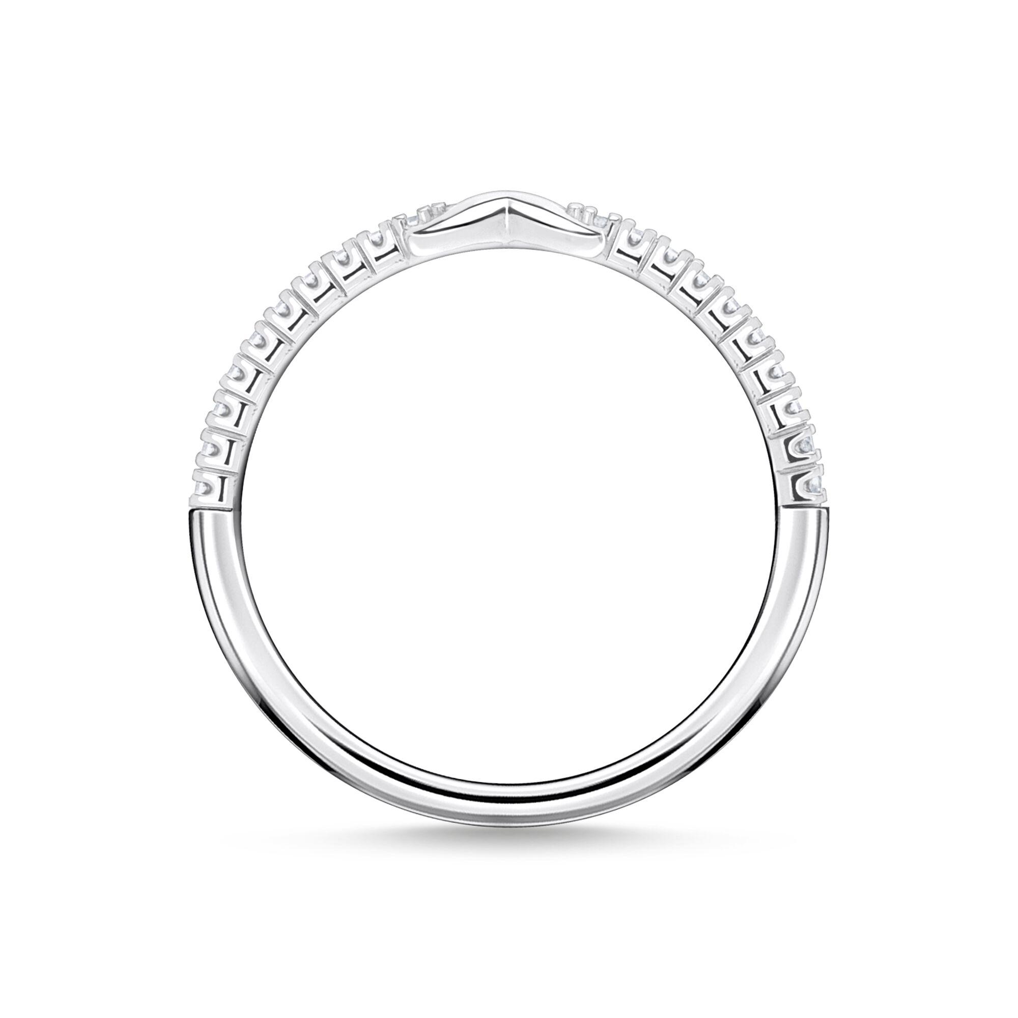 Bague Infinity avec pierres blanches argent Thomas Sabo