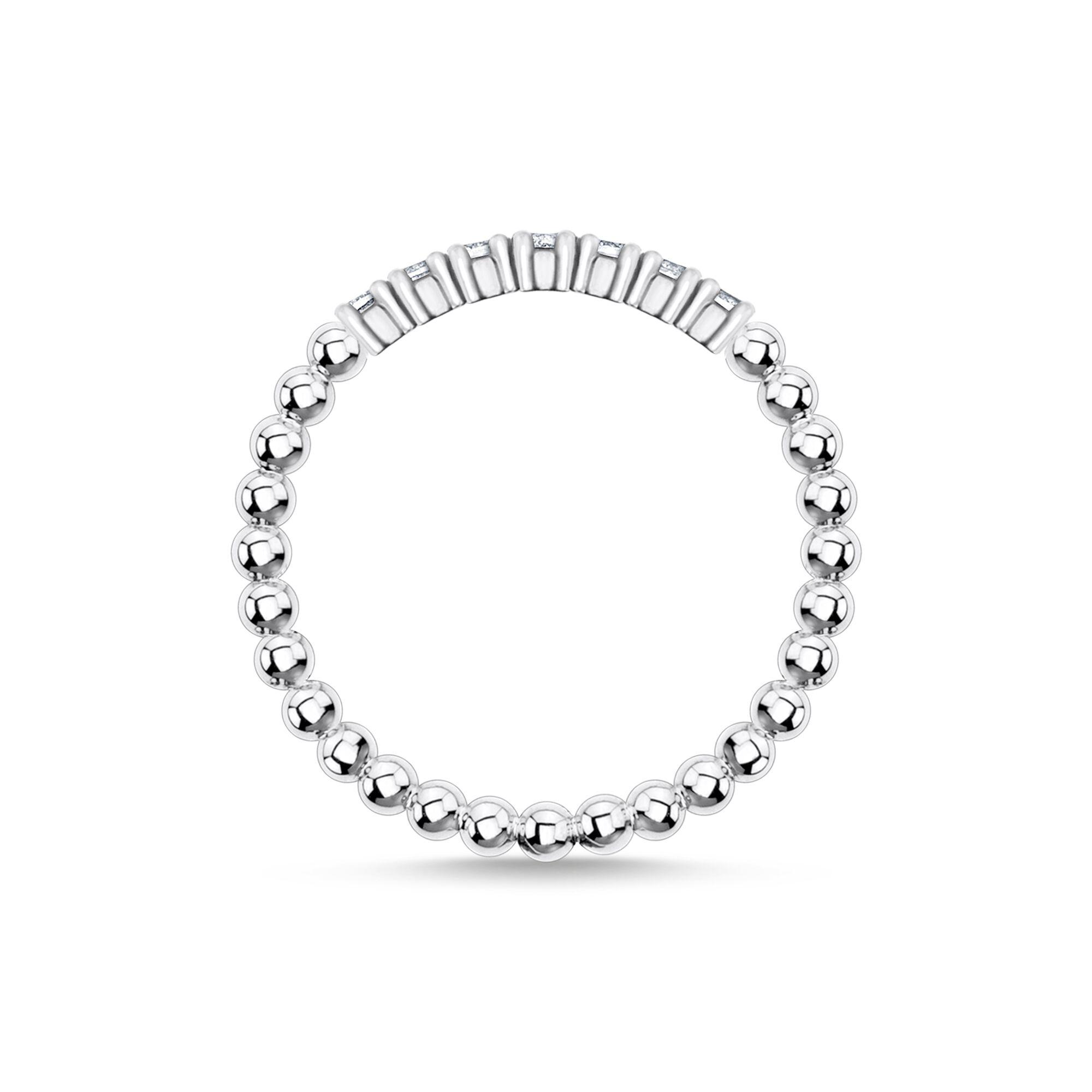 Bague perles avec pierres blanches argent, Thomas Sabo