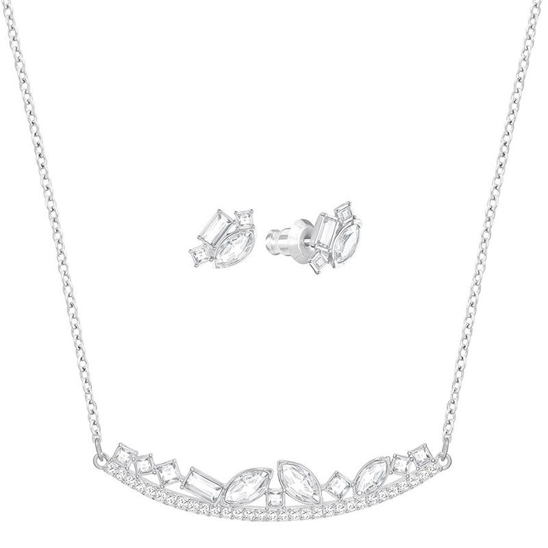 Parure Henrietta métal rhodié, Swarovski