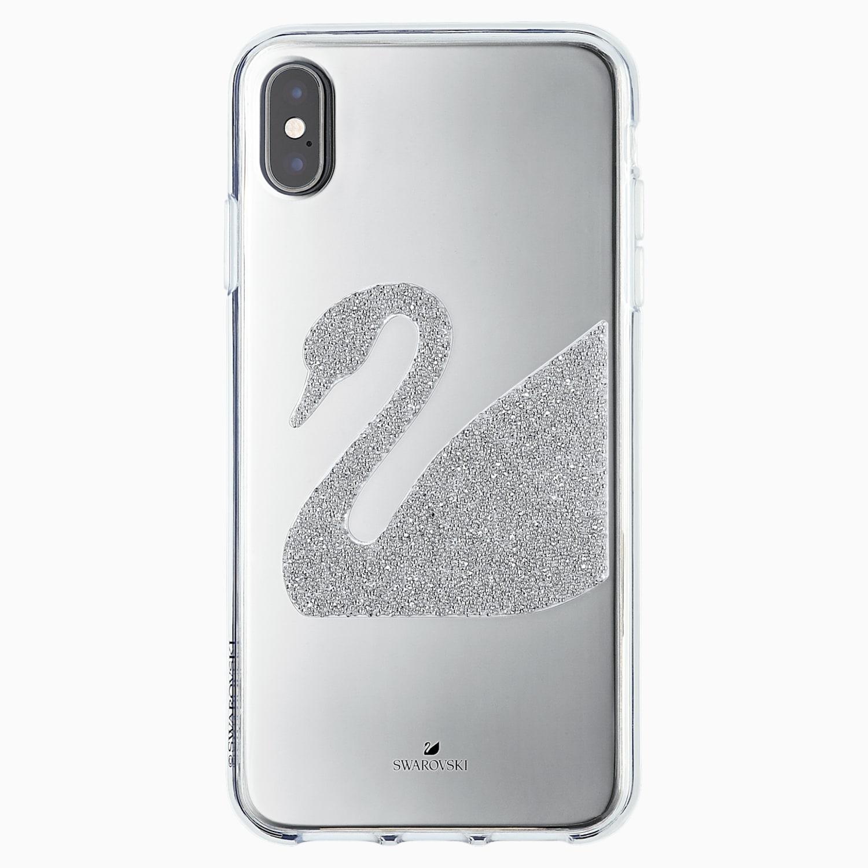 ÉTUI POUR SMARTPHONE SWAN, IPHONE® XS MAX, GRIS, Swarovski