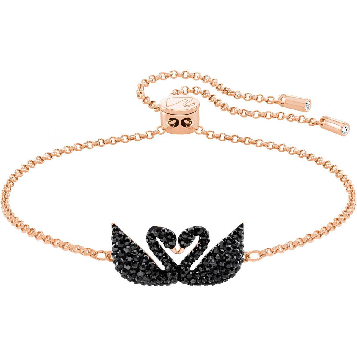 Bracelet Swarovski Iconic Swan, Metal Doré Rose