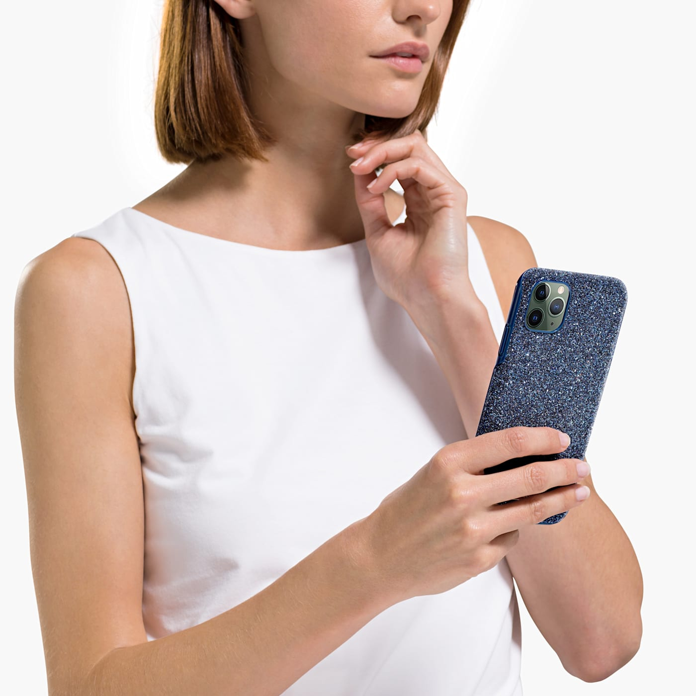 ÉTUI POUR SMARTPHONE HIGH, IPHONE® 11 PRO MAX, BLEU, Swarovski