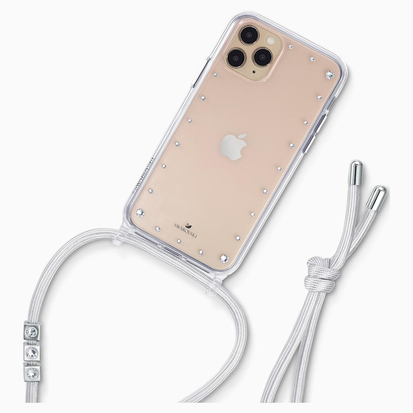 COLLIER ÉTUI POUR SMARTPHONE AVEC BUMPER SWAROVSKI, IPHONE® 11 PRO, BLANC, Swarovski