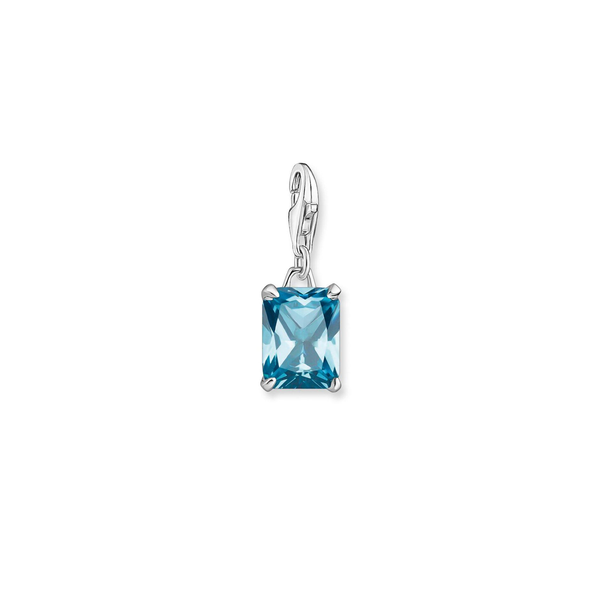 Pendentif Charme pierre bleue et argent, Thomas Sabo