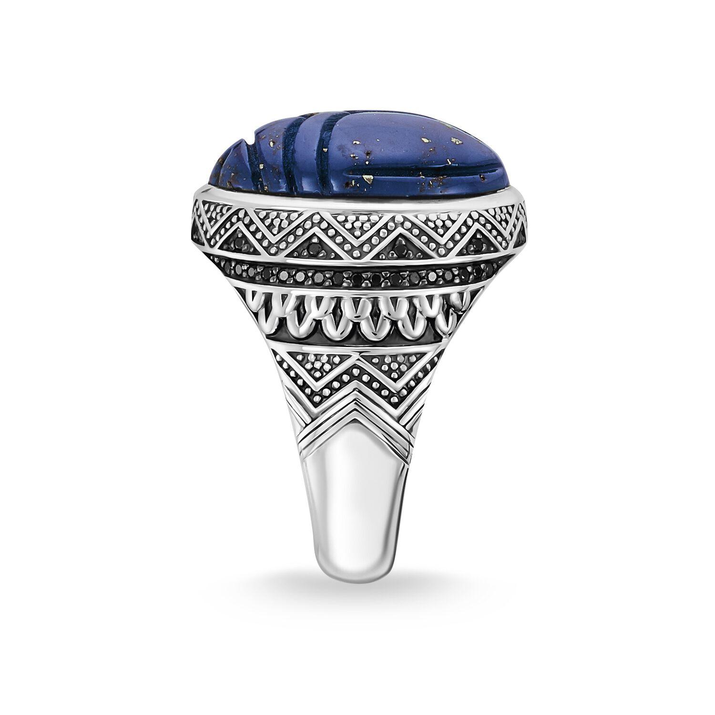 Bague Scarabée Lapis Lazuli, Rebel, Thomas Sabo